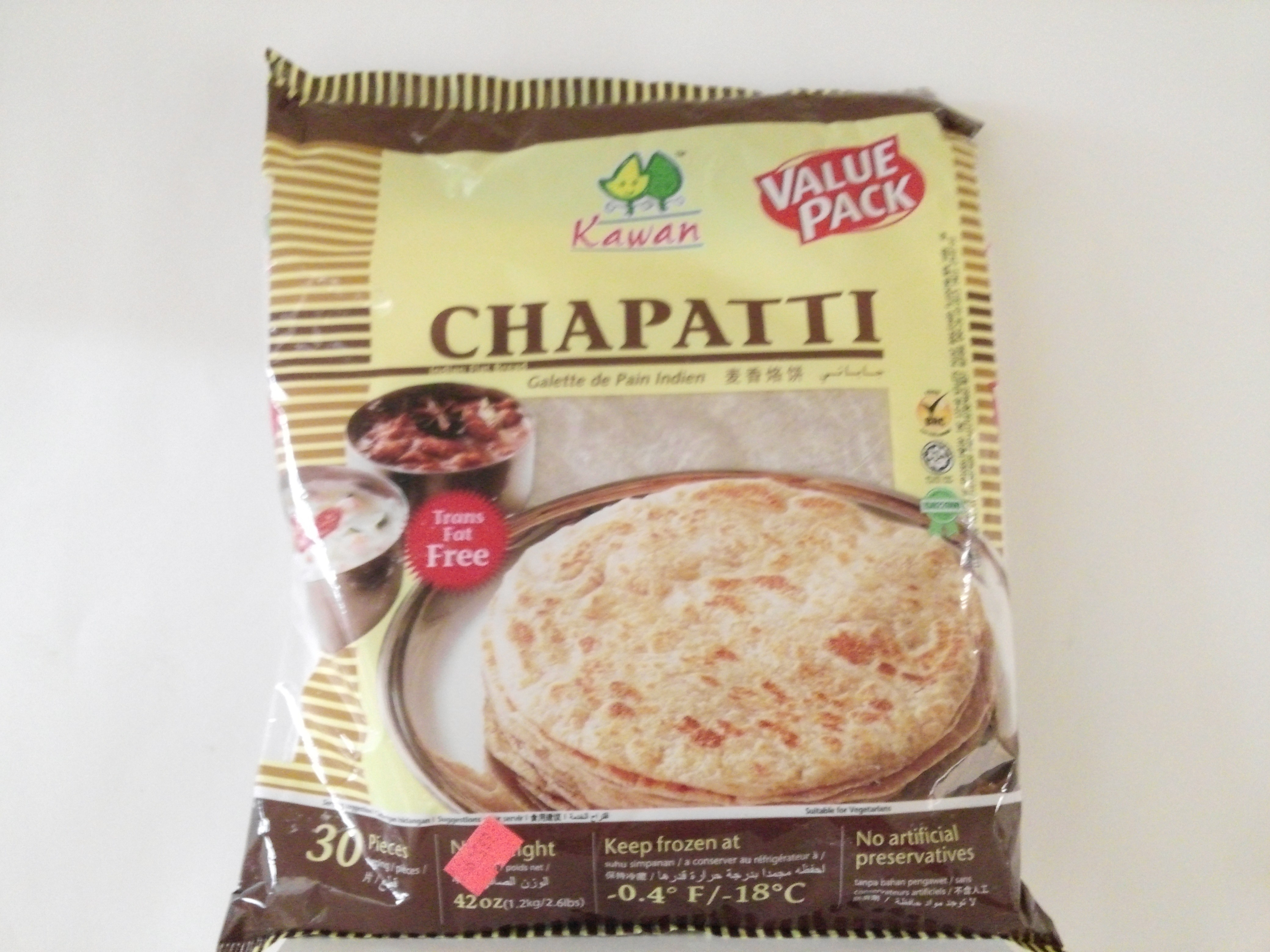 Kawan Chapati (Value Pack) 30 Pcs 42 oz