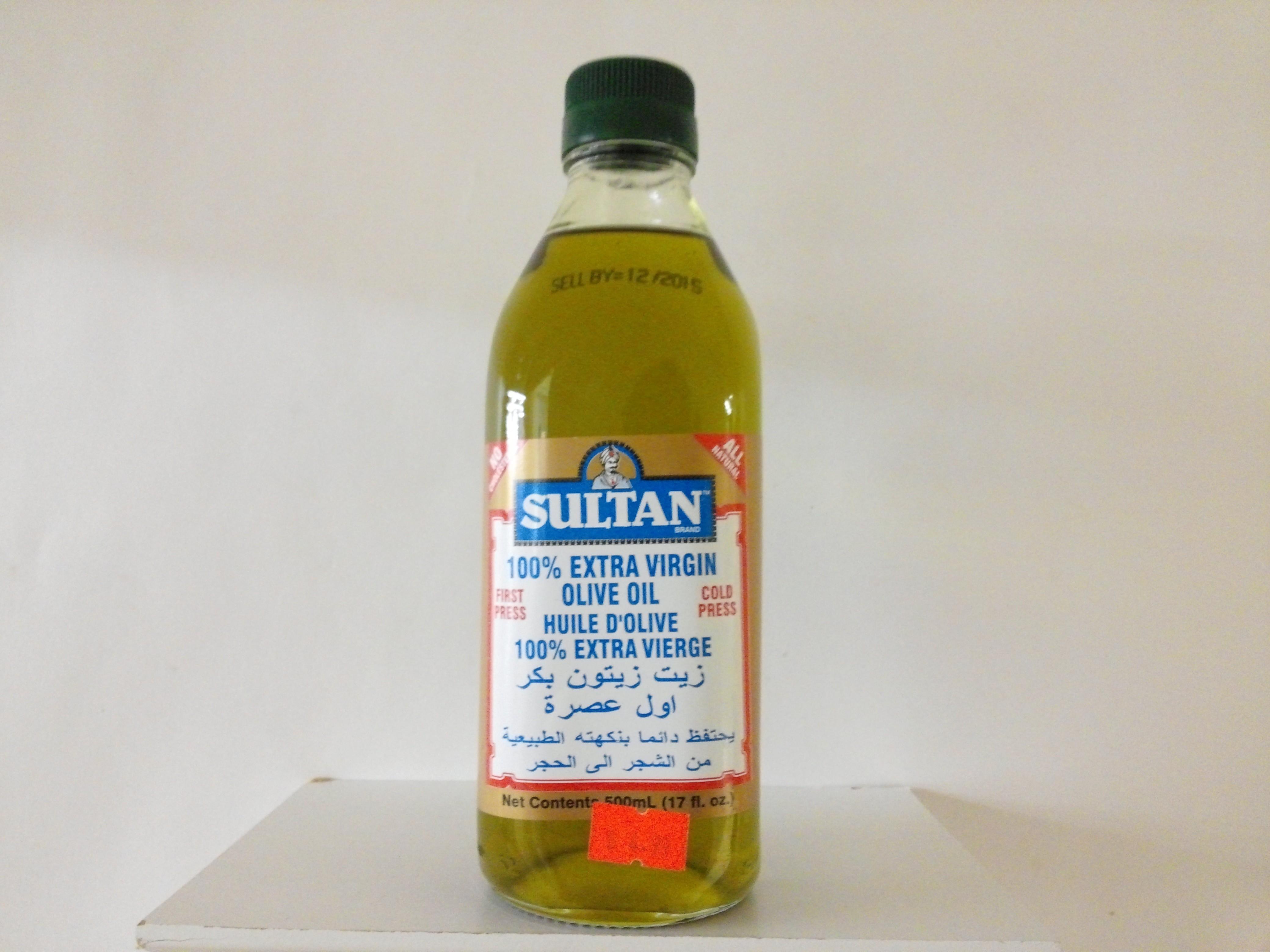 Sultan 100% Extra Virgin Olive Oil 17 oz