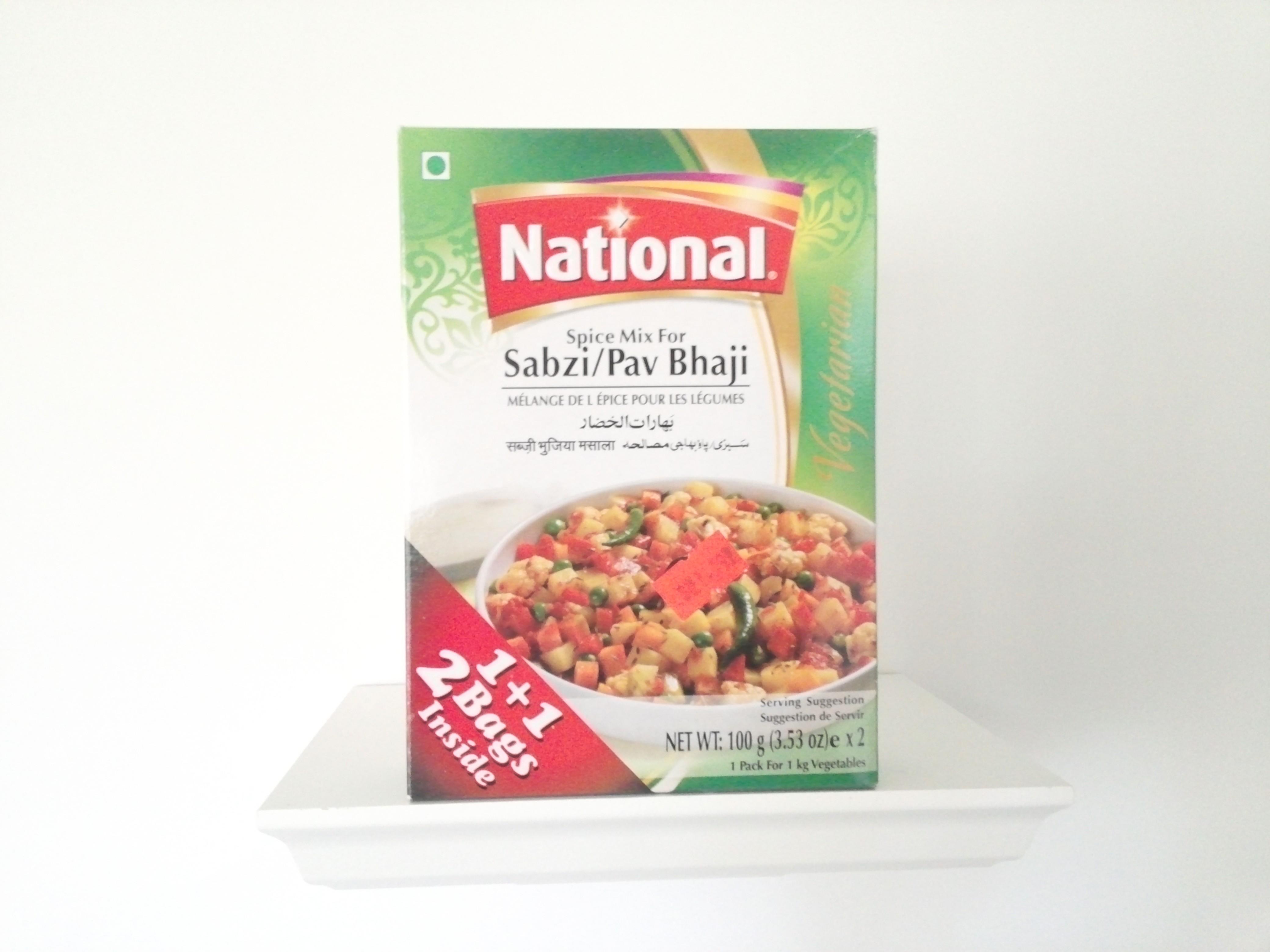 National Sabzi/Pav Bhaji Spice Mix 200 grm