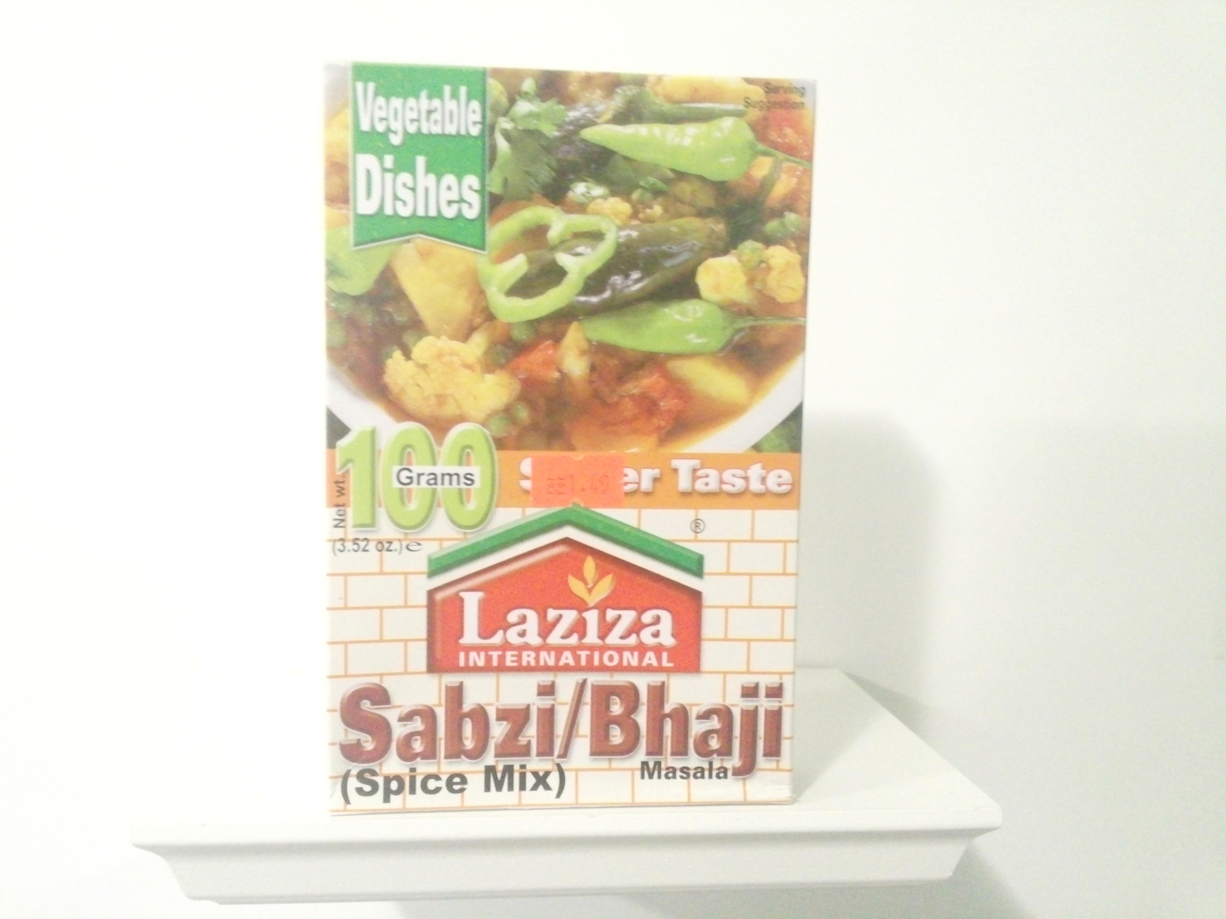 Laziza Sabzi Bhaji Spice Mix 100 grm