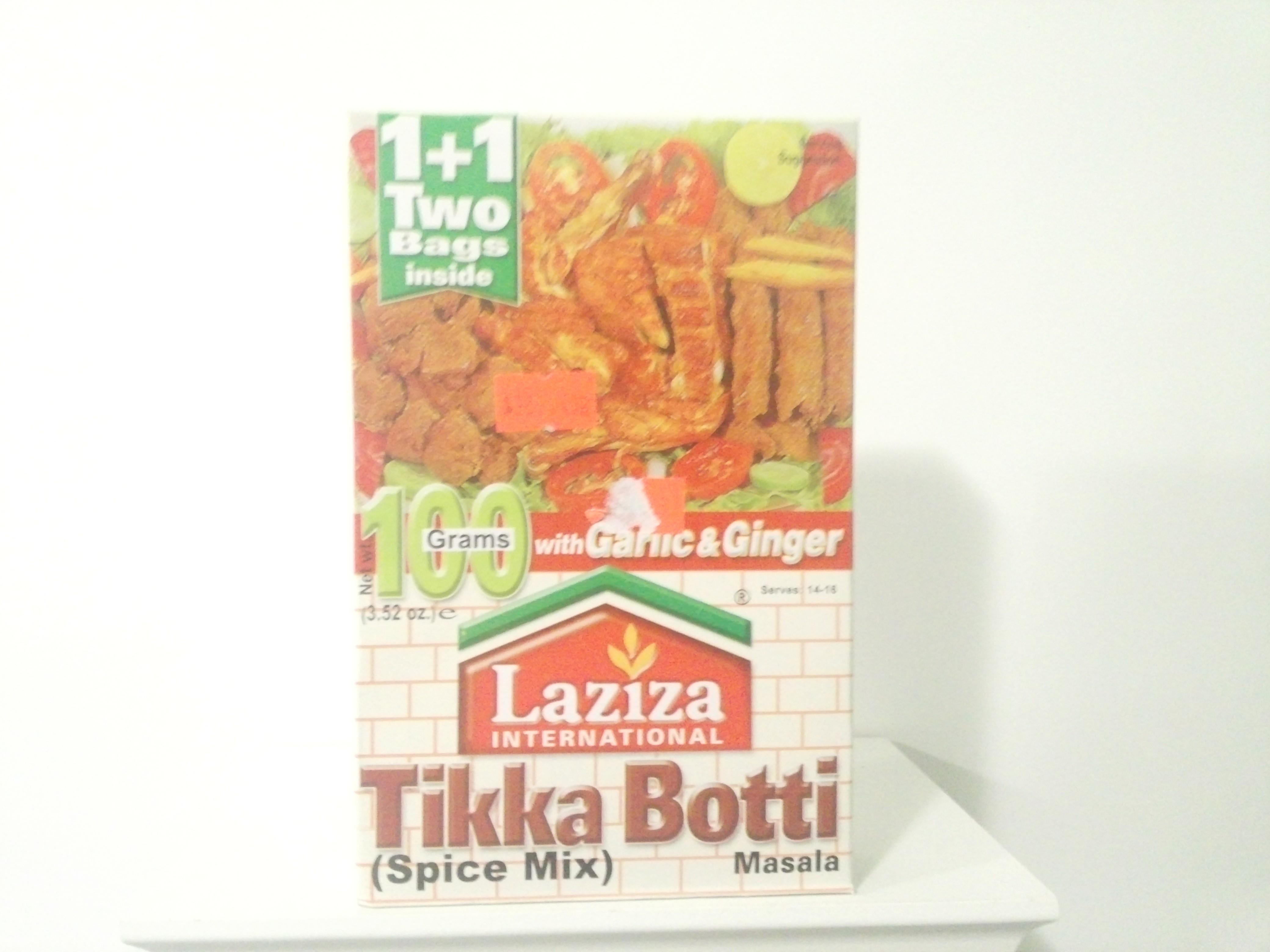 Laziza Tikka Boti Spice Mix 100 grm