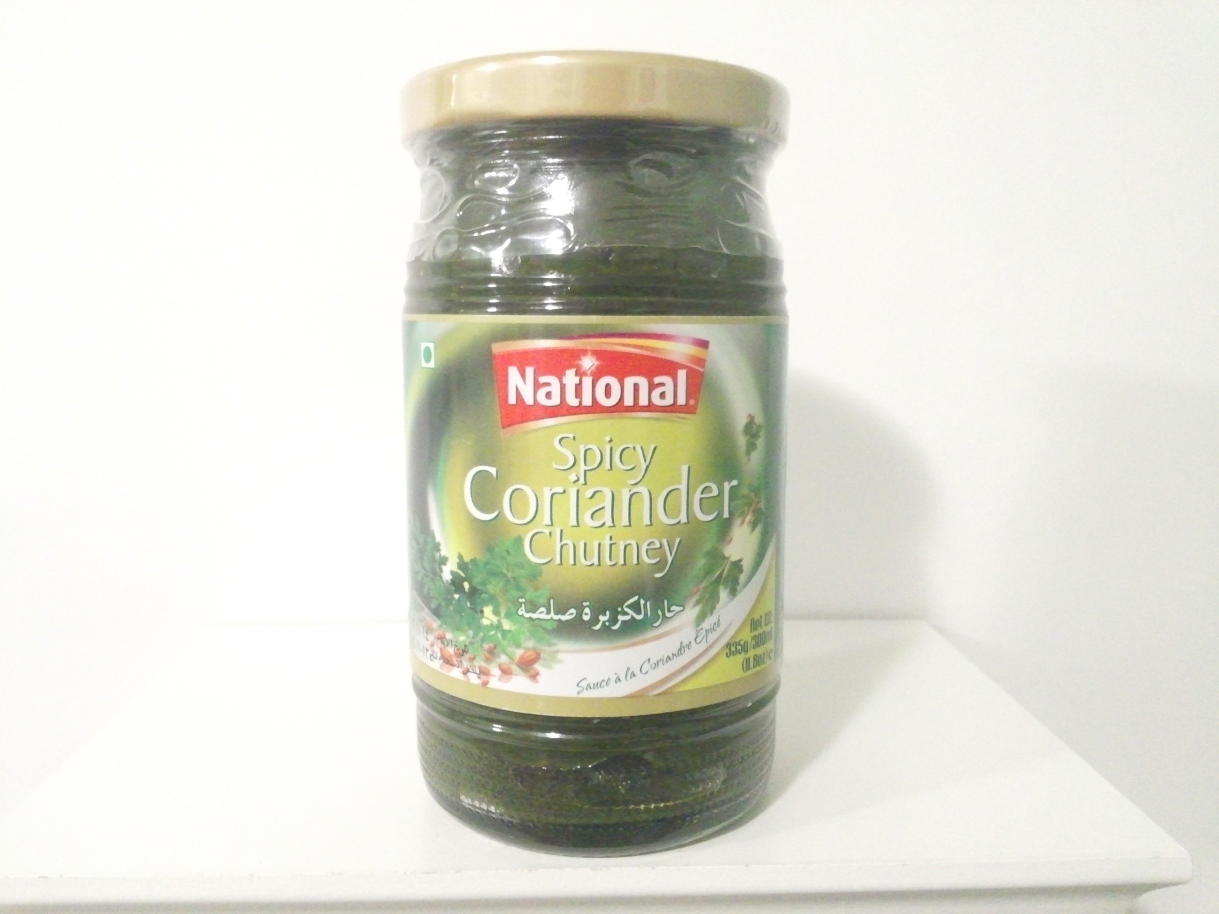 National Spicy Coriander Chutney 335 grm