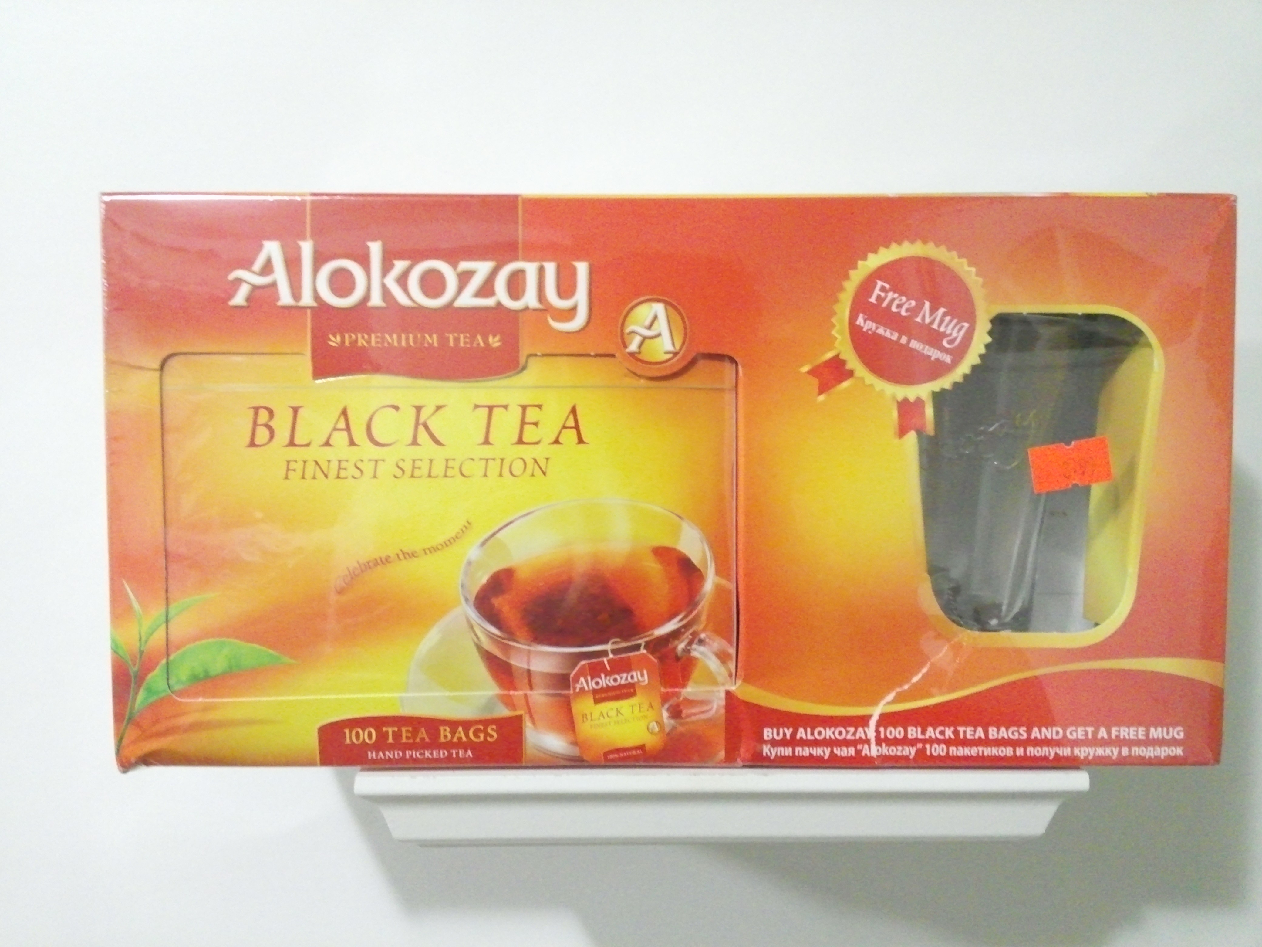 Alokozay Black Tea 100 Bags with a free mug