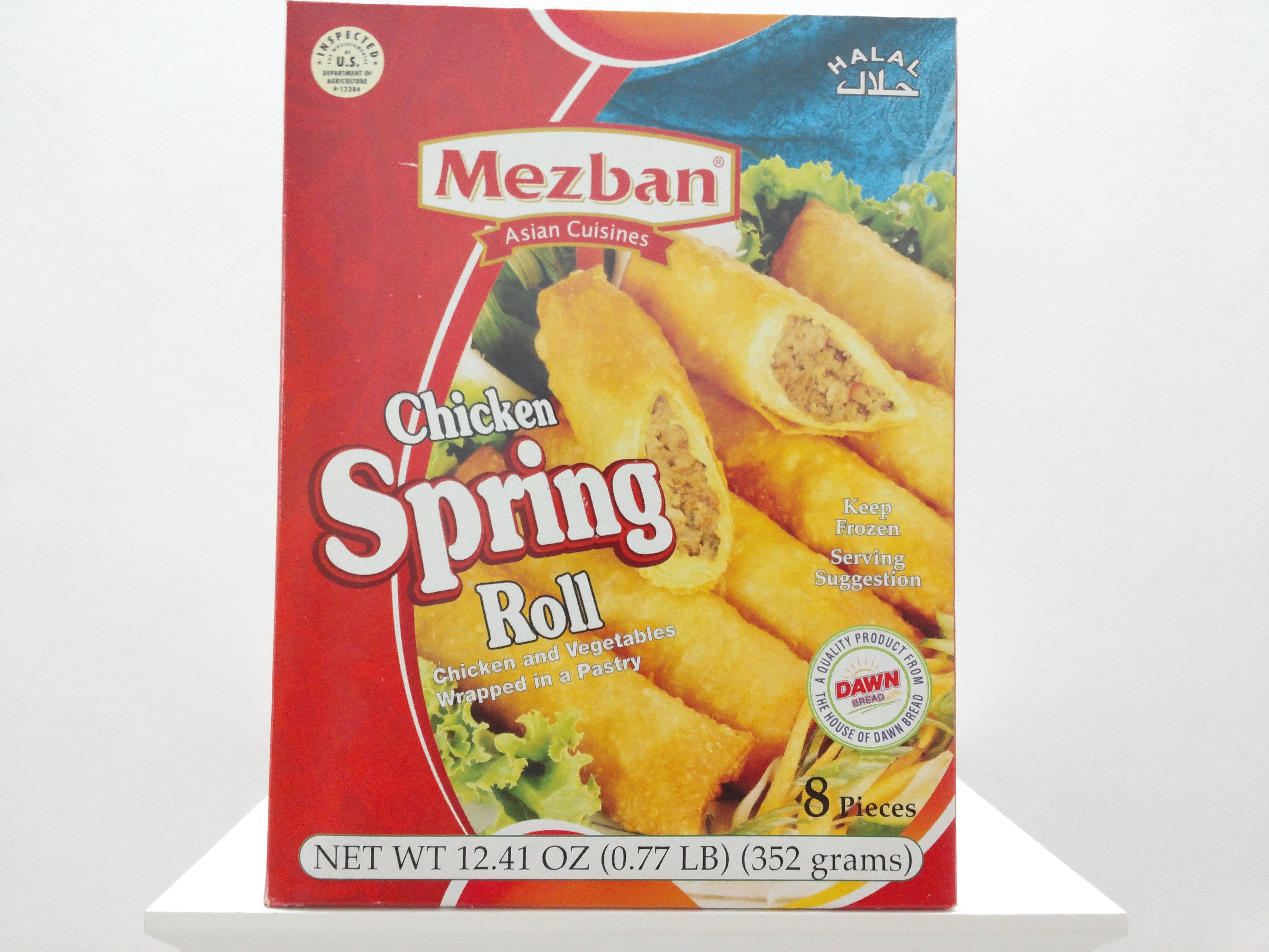 Mezban Chicken Spring Roll 8 pcs 12.41 oz