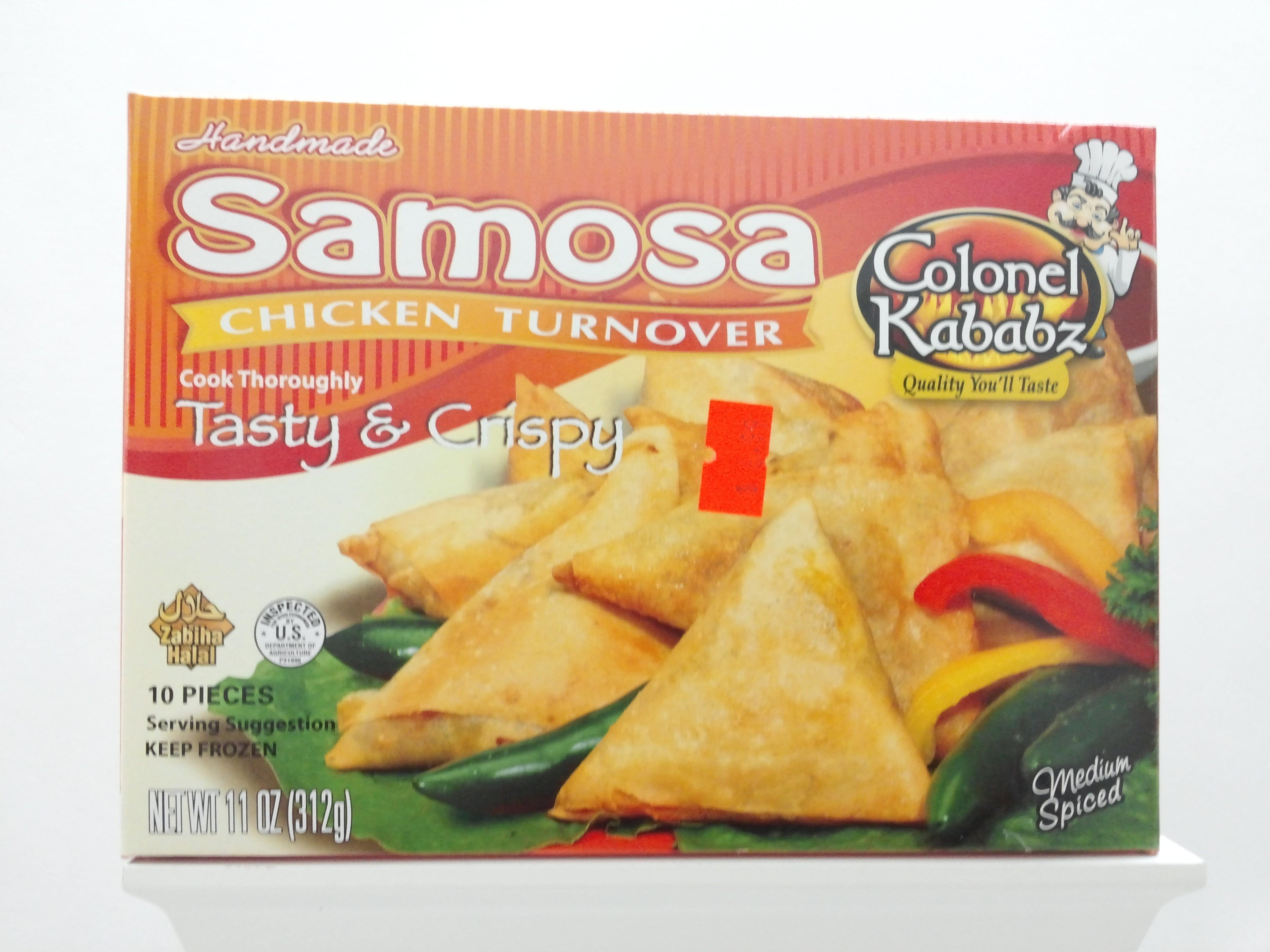 Colonel Samosa Chicken Turnover 10 pcs 11 oz