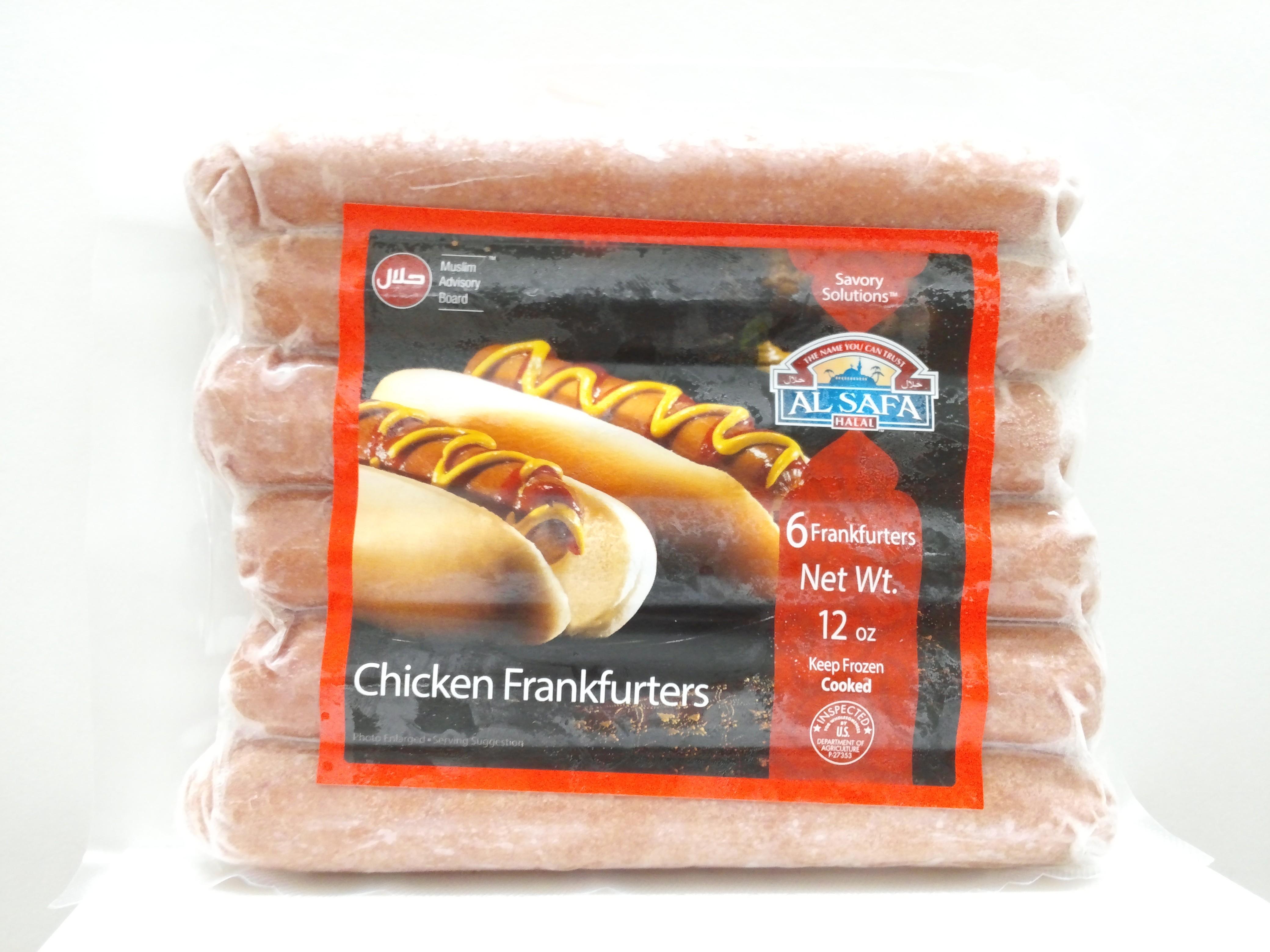 Al Safa Chicken Frankfurters 12 oz
