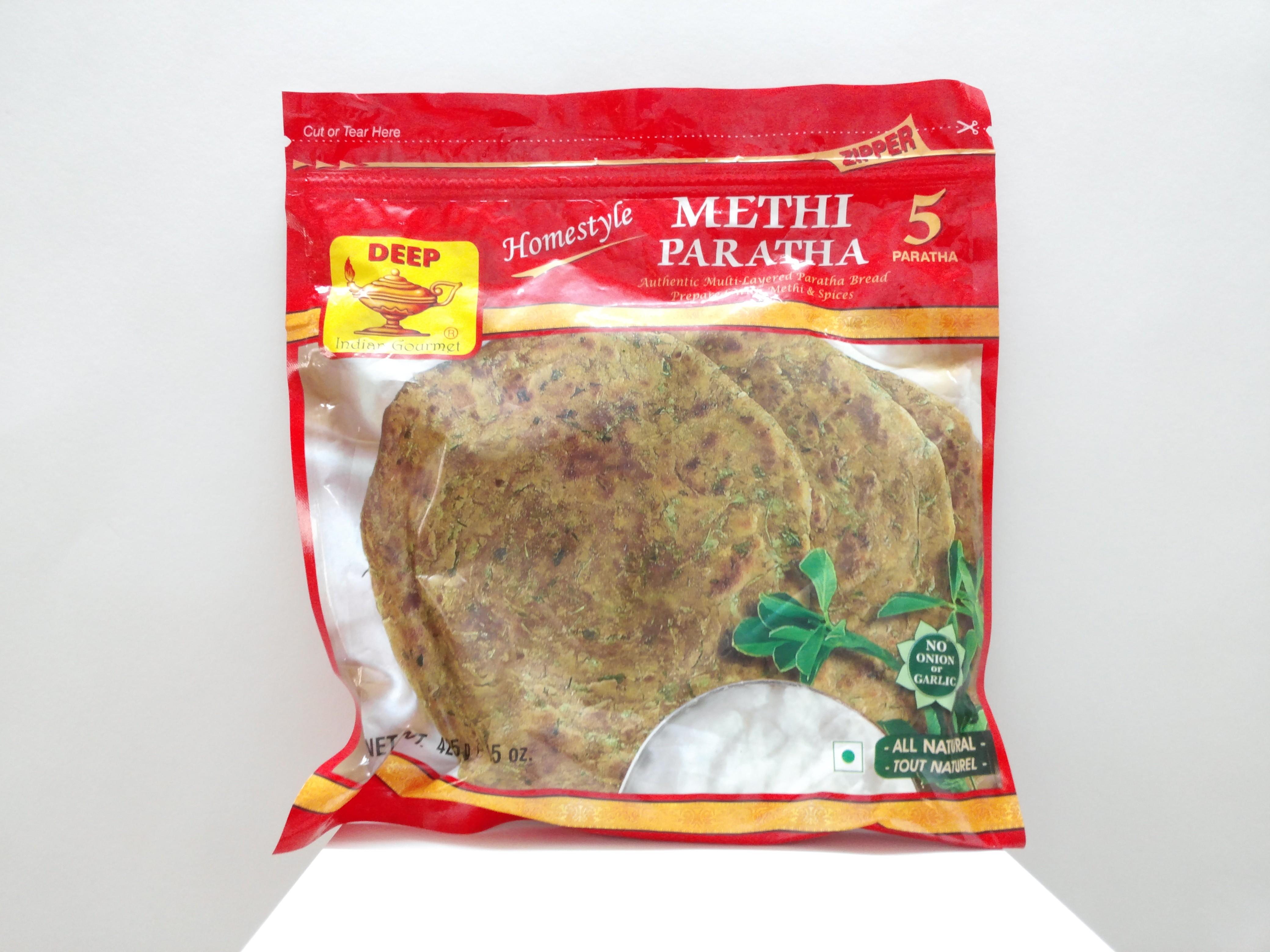 Deep Methi Paratha 5 pcs 15 oz
