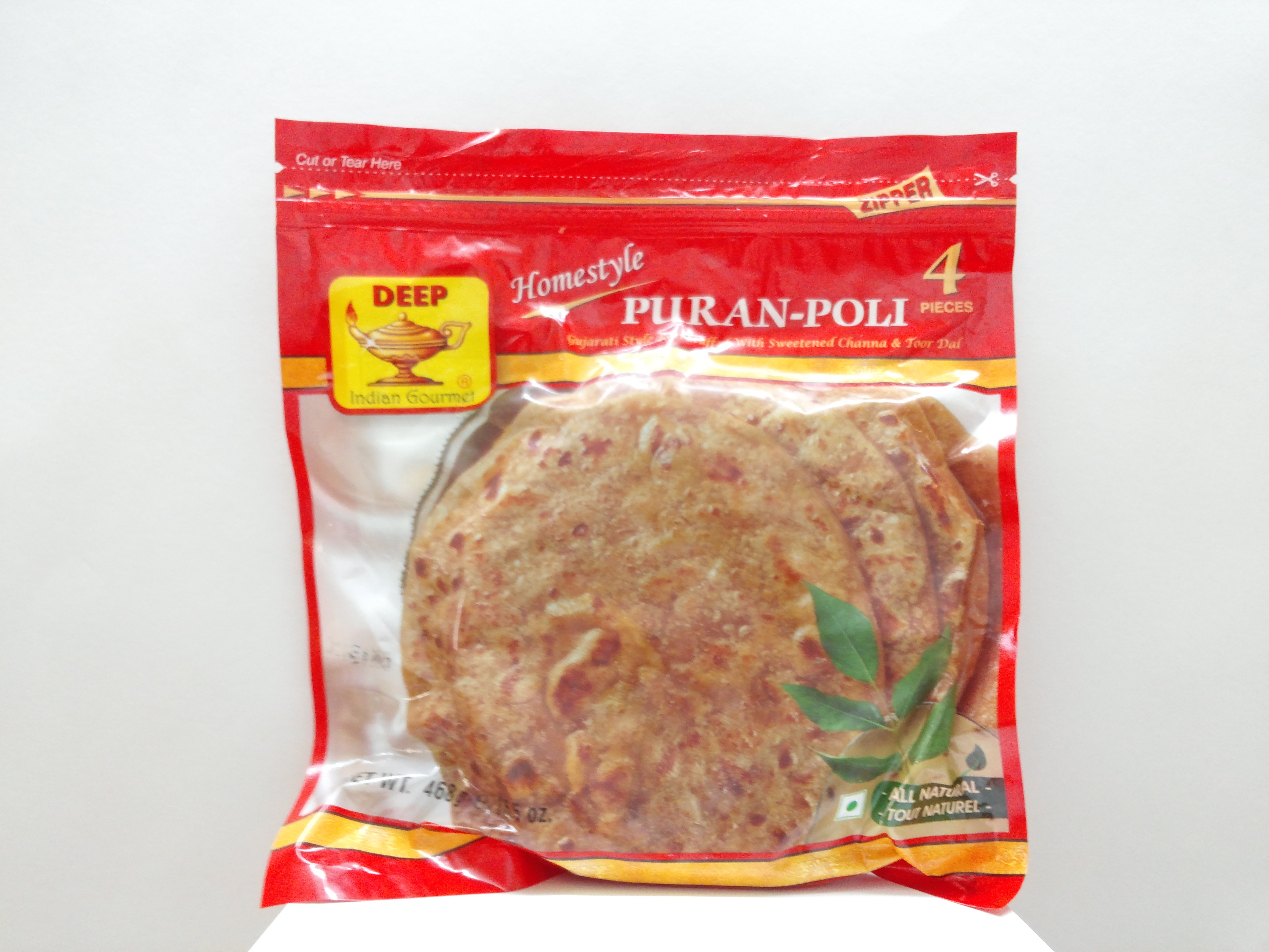Deep Puran-Poli 4 pcs 16.5 oz