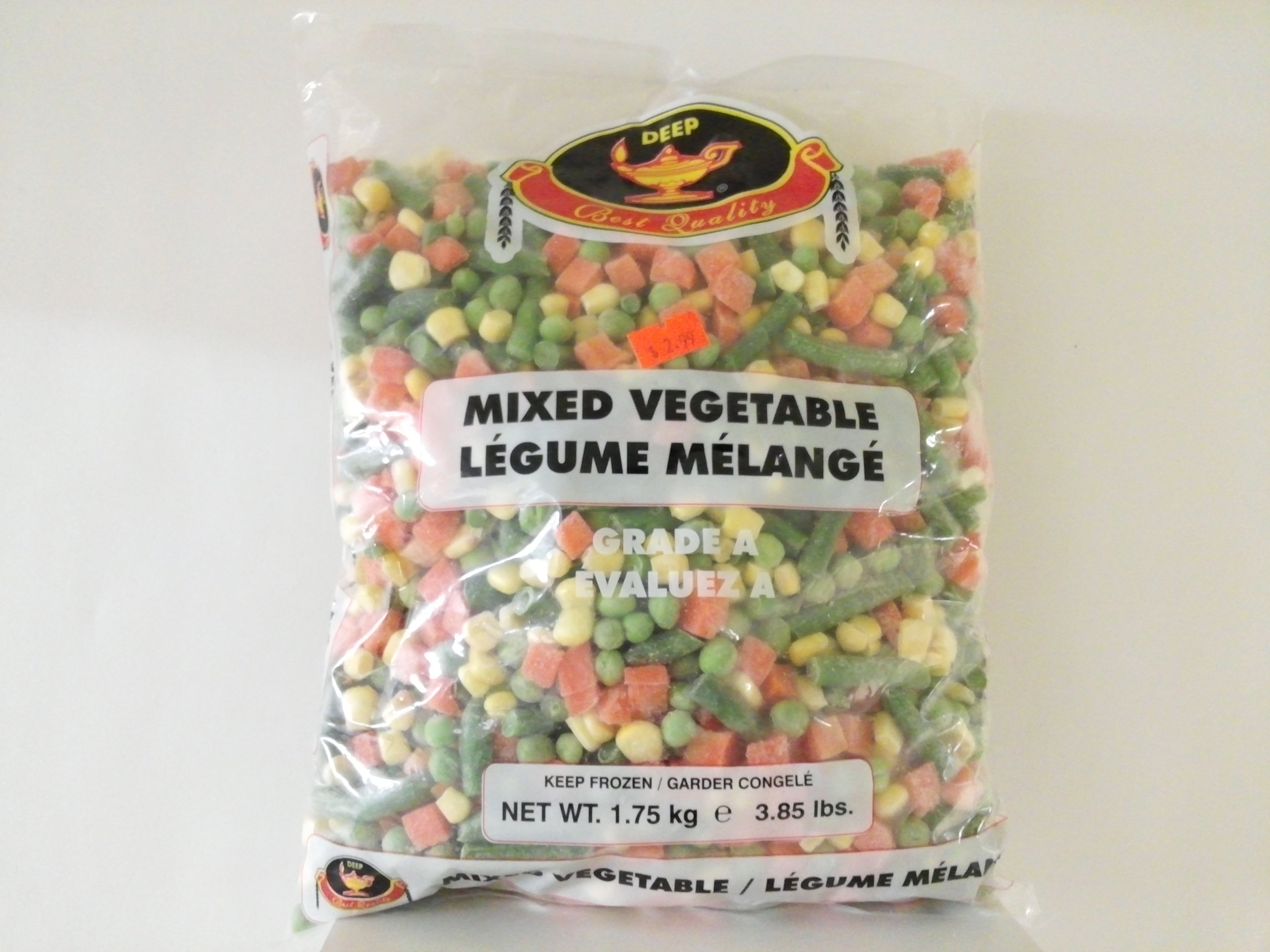 Deep Mixed Vegetables 3.85 lbs