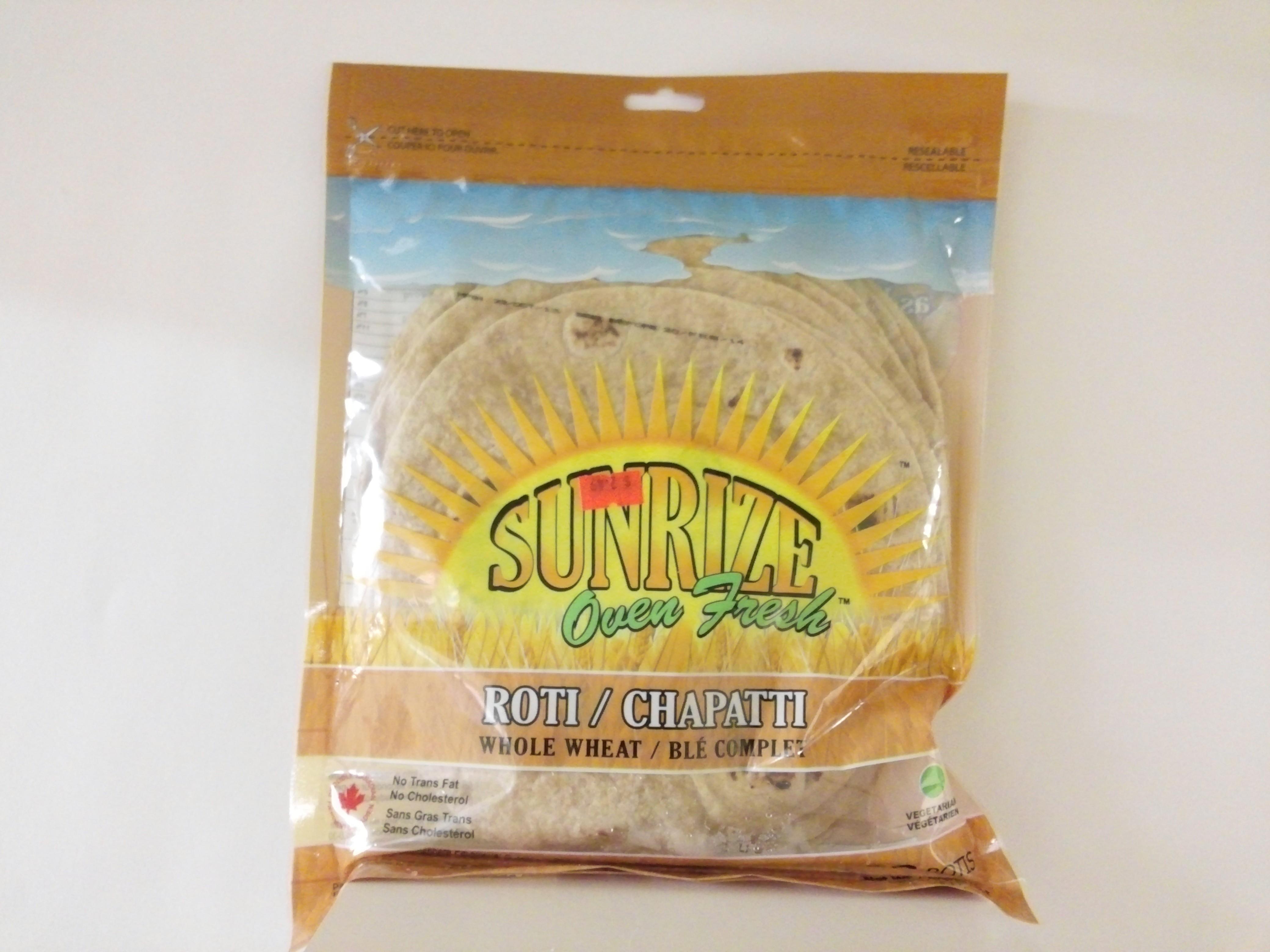 Sunrize Whole Wheat Chapatti 10 Pcs 17.6 oz
