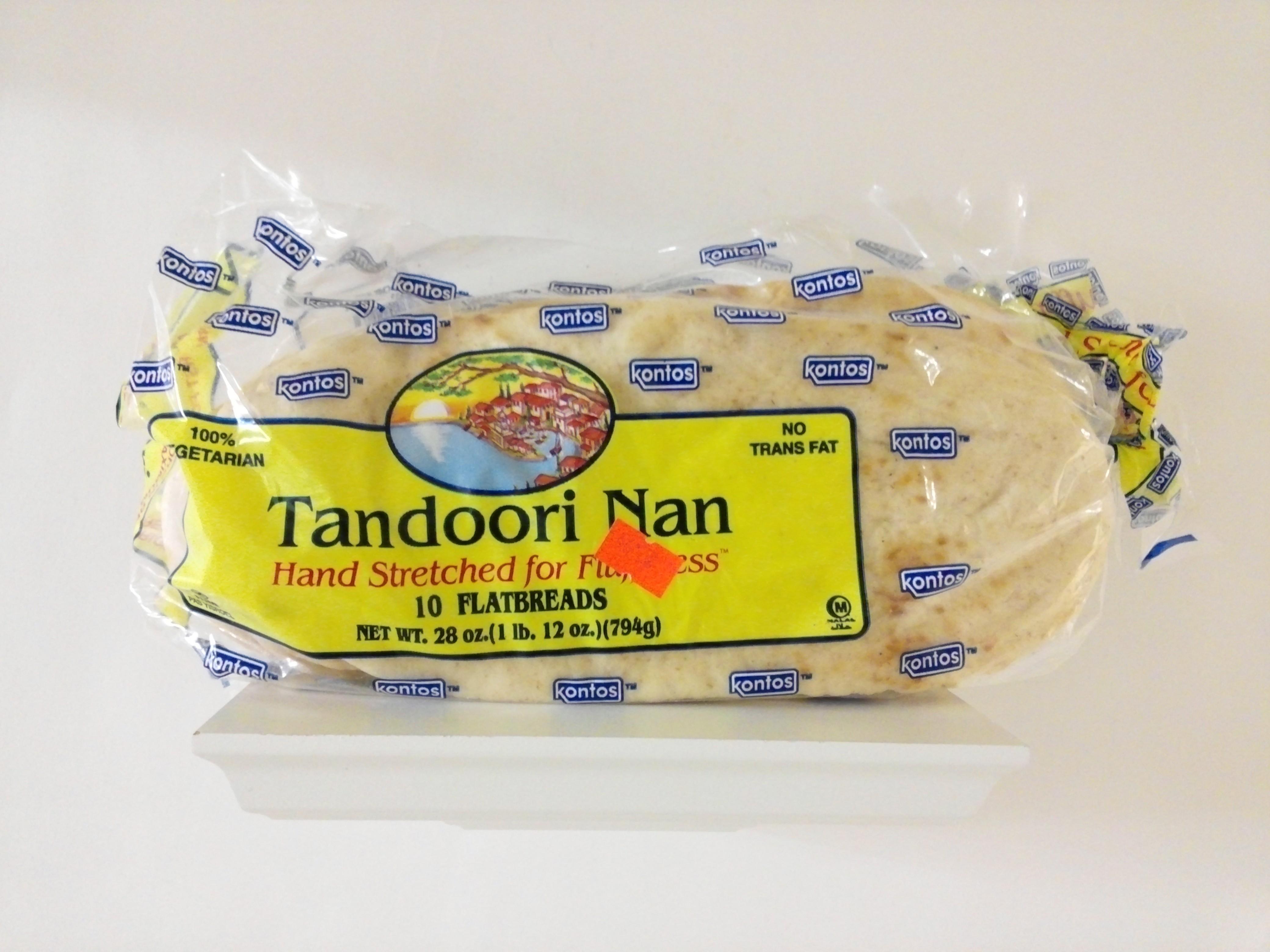 Kontos Tandoori Naan 10 Pcs 28 oz