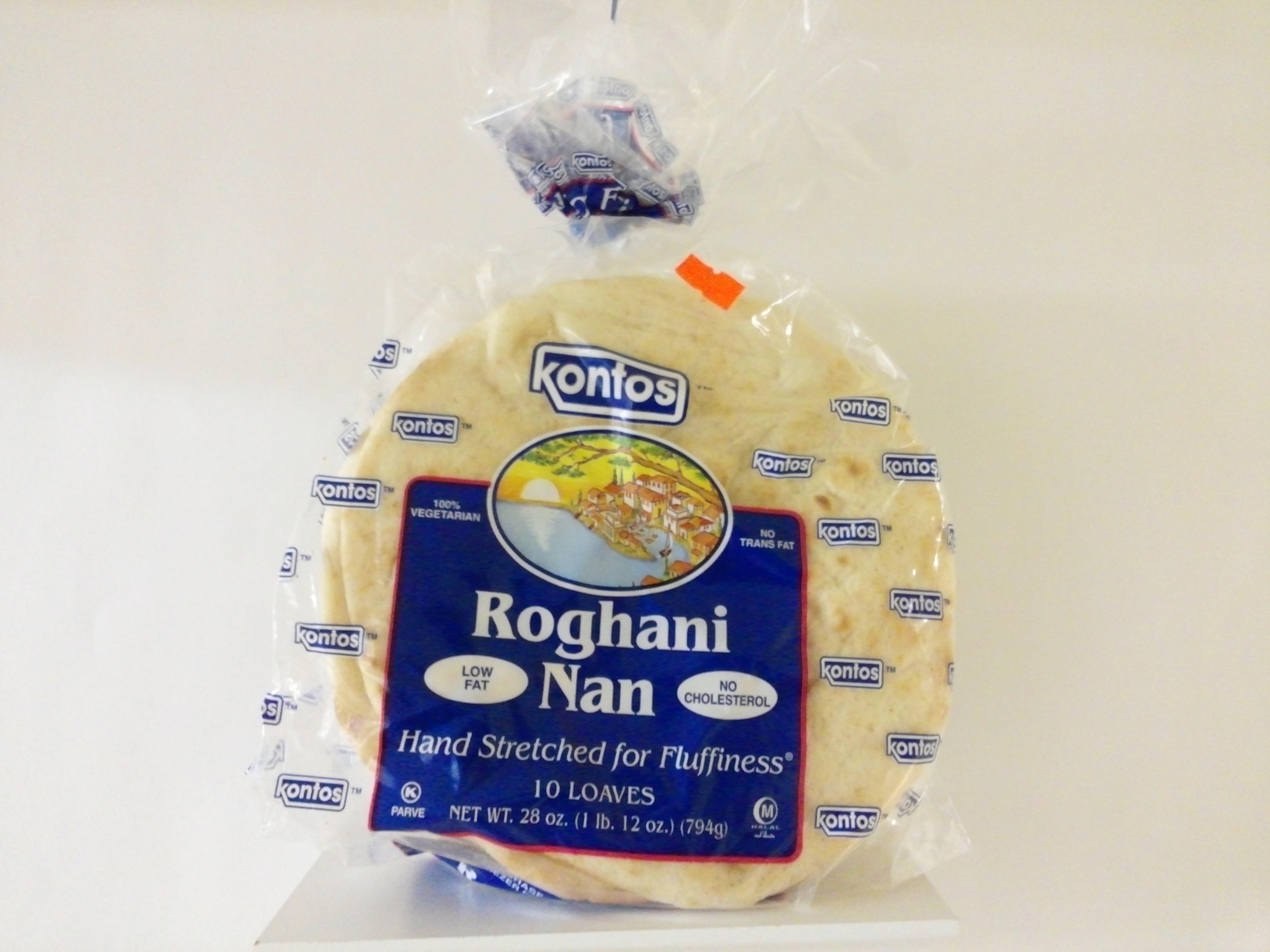 Kontos Roghani Naan 10 Pcs 28 oz
