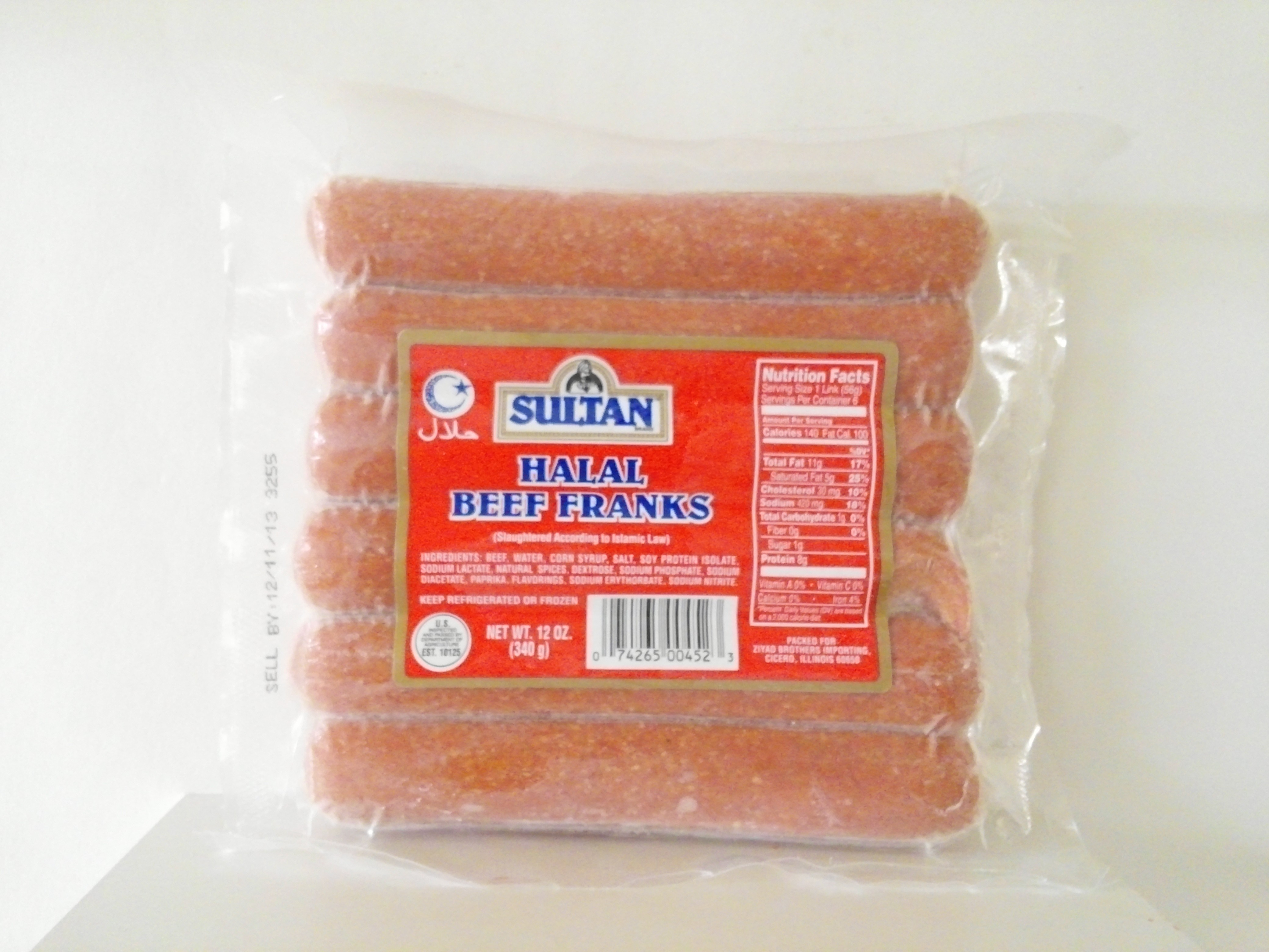 Sultan Beef Franks 12 oz