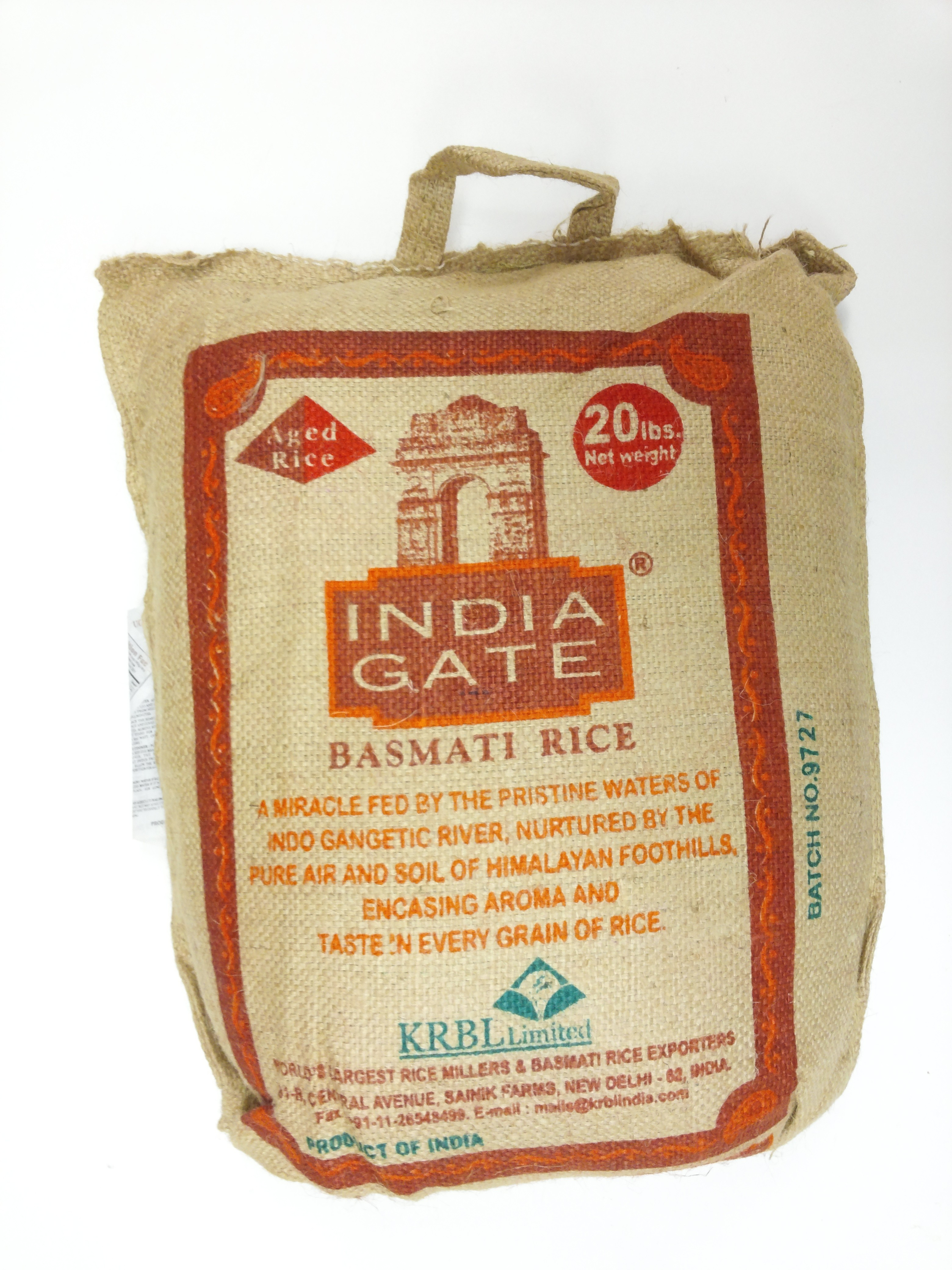 India Gate  Basmati Rice 20 lb