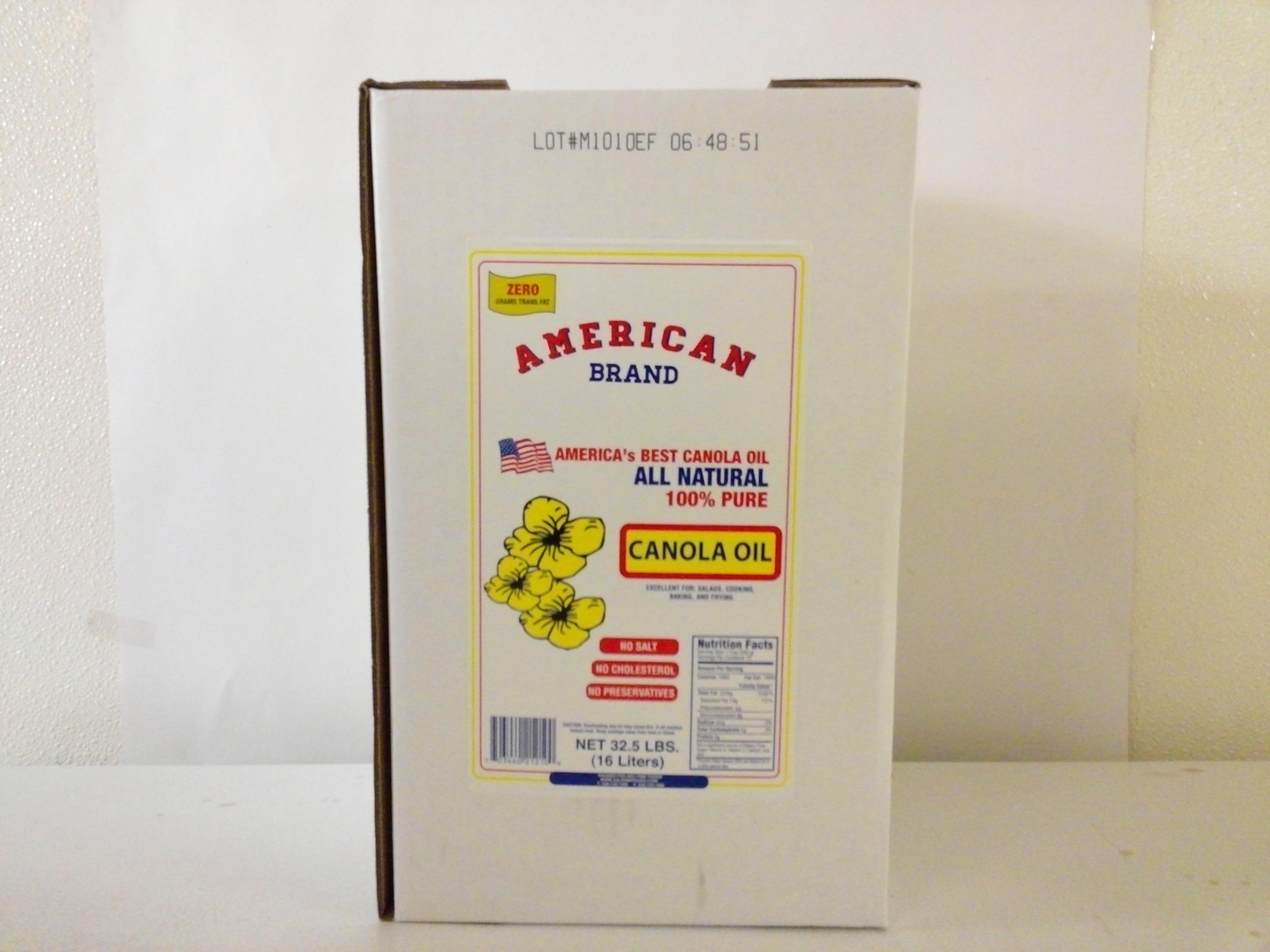American Brand Canola Oil 32.5 Lbs