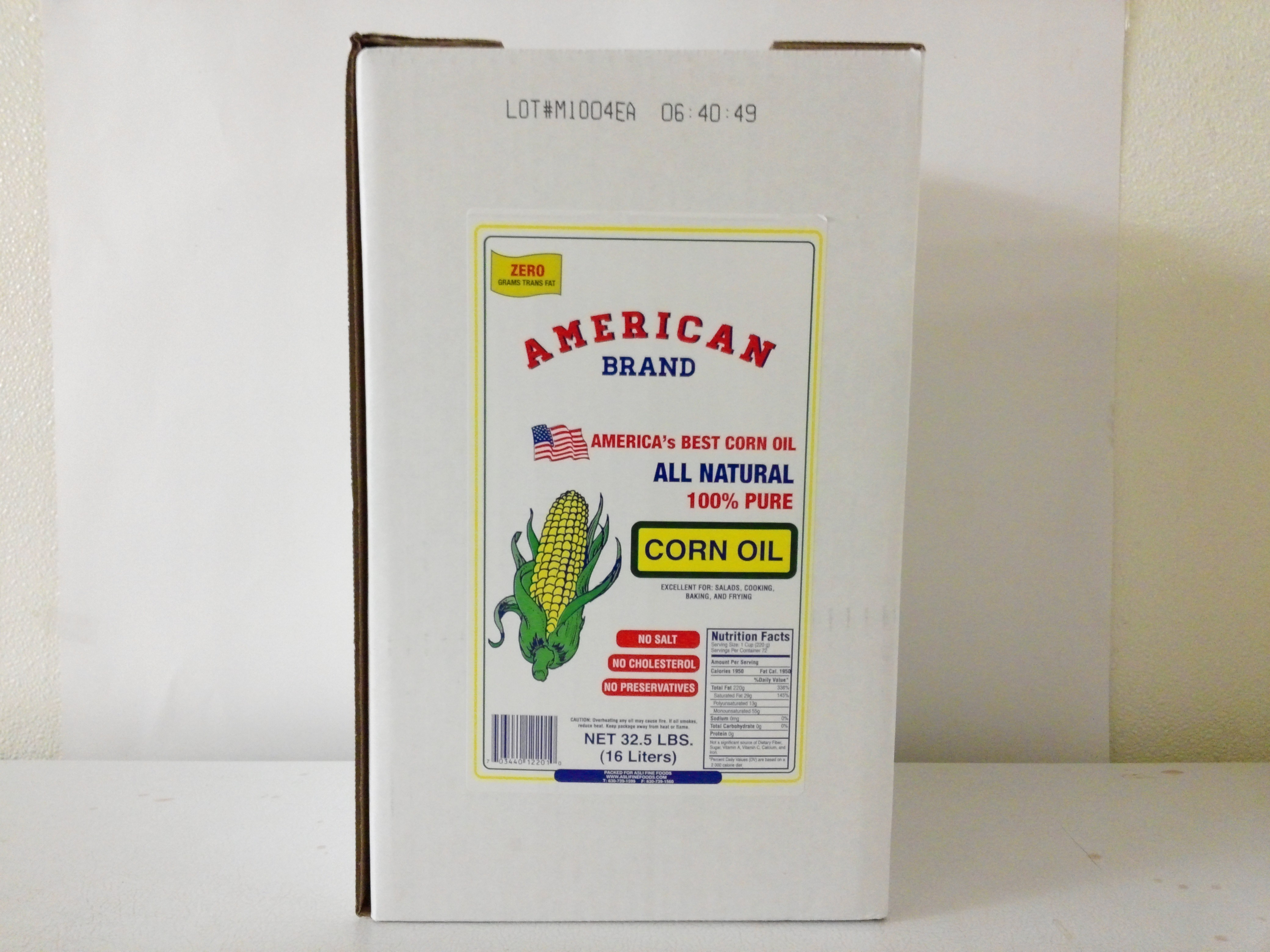 American Brand Corn Oil 32.5 Lbs