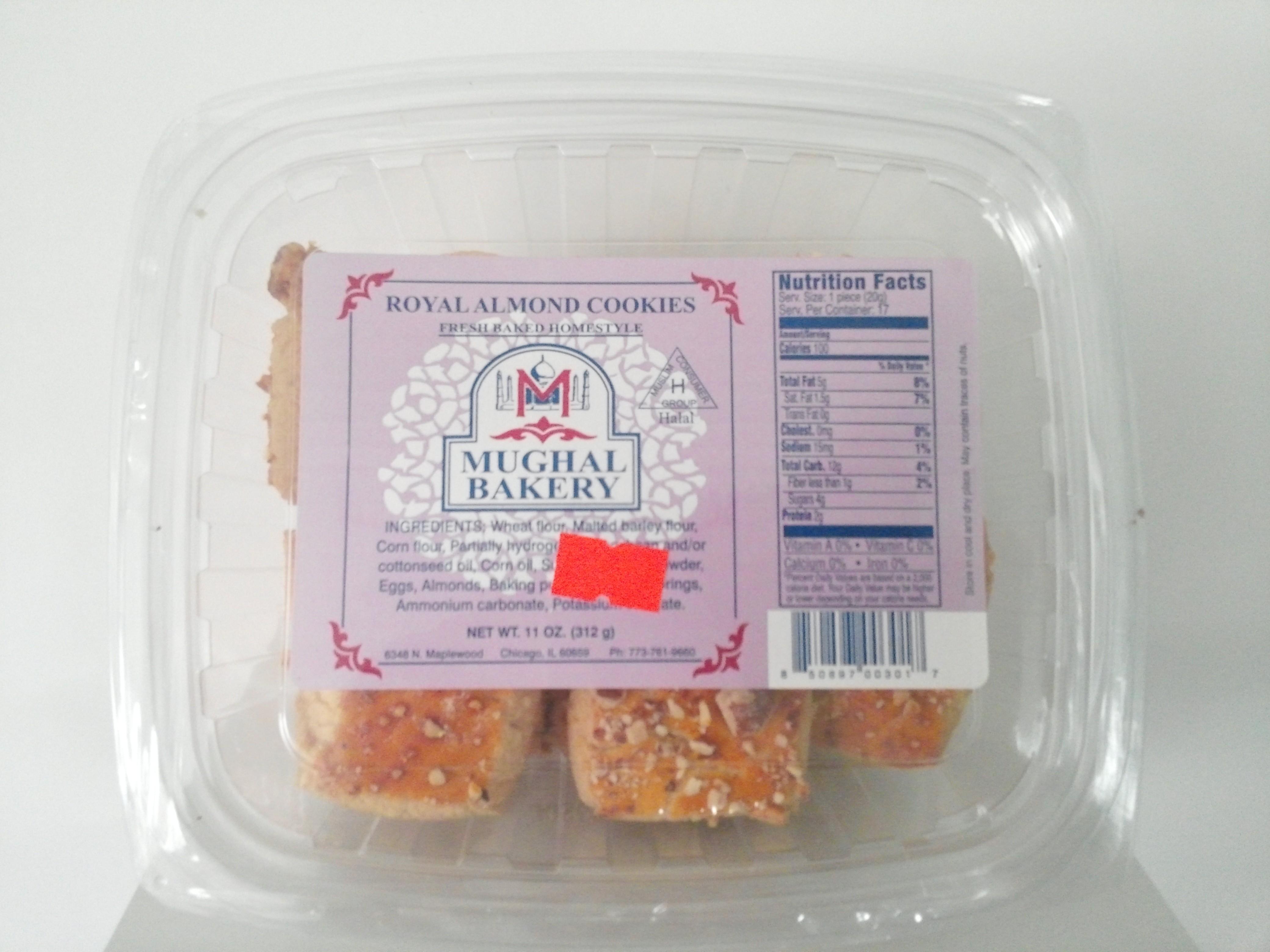 Mughal Bakery Royal Almond Cookies 11 oz
