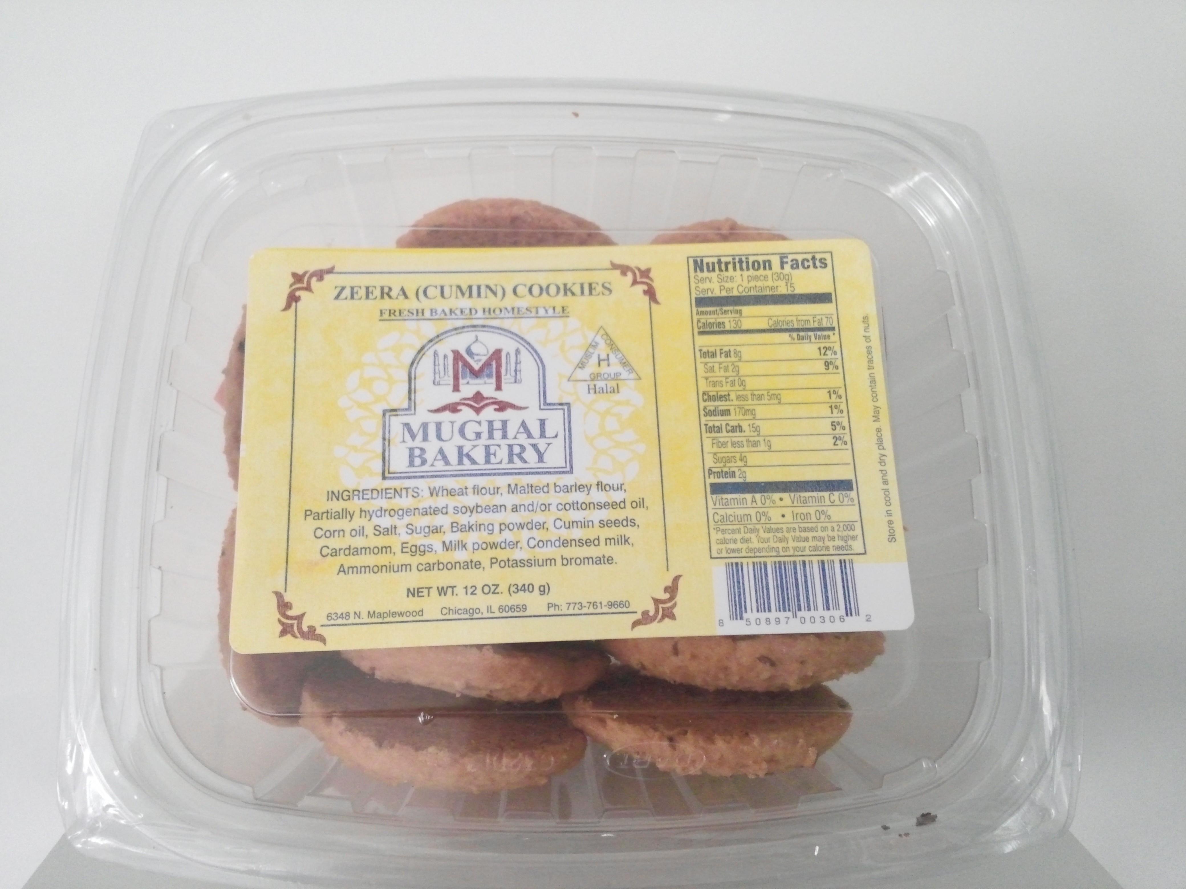 Mughal Bakery Zeera Cookies 12 oz