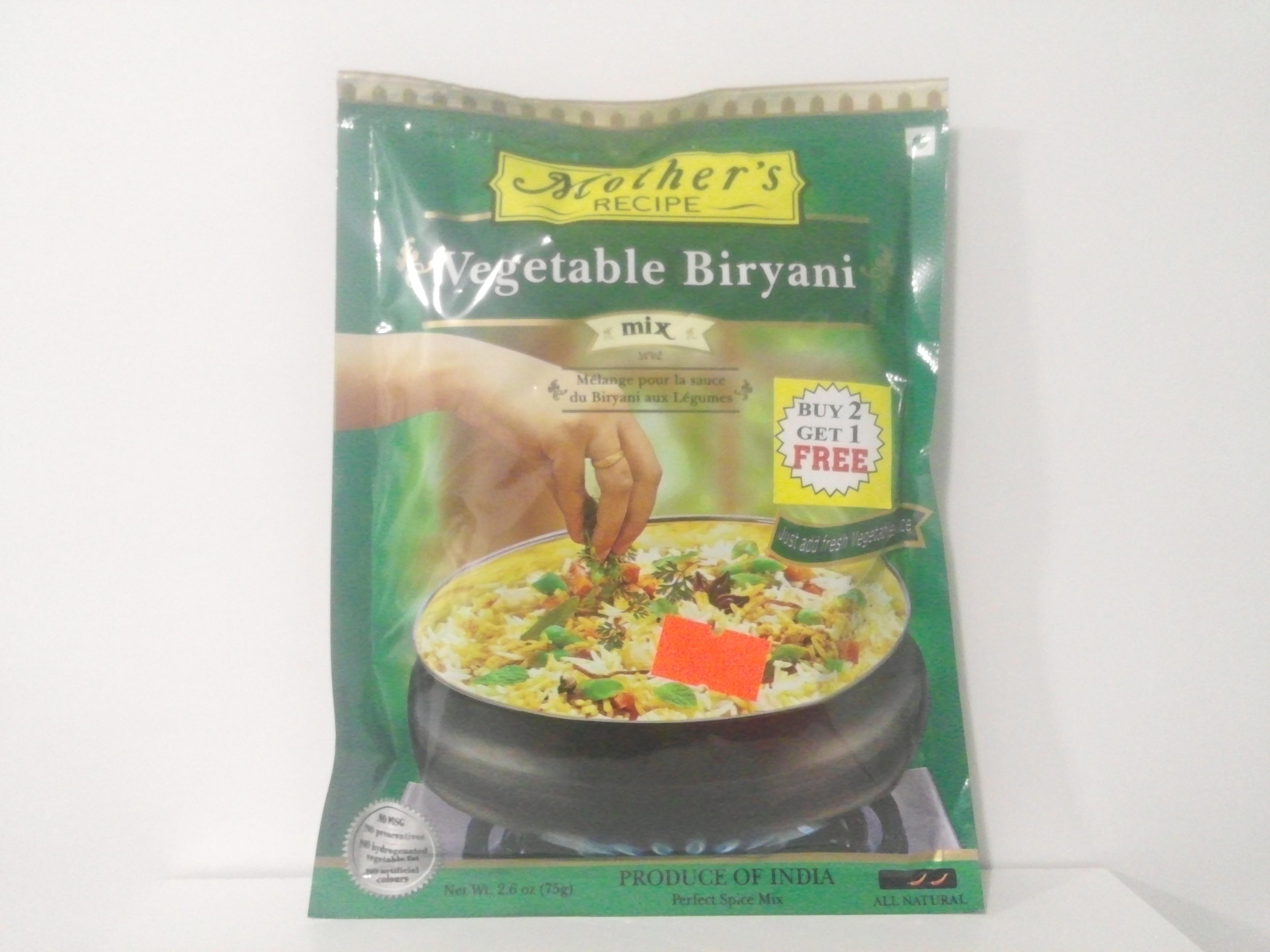 Mother's Vegetable Biryani Mix 75 grm