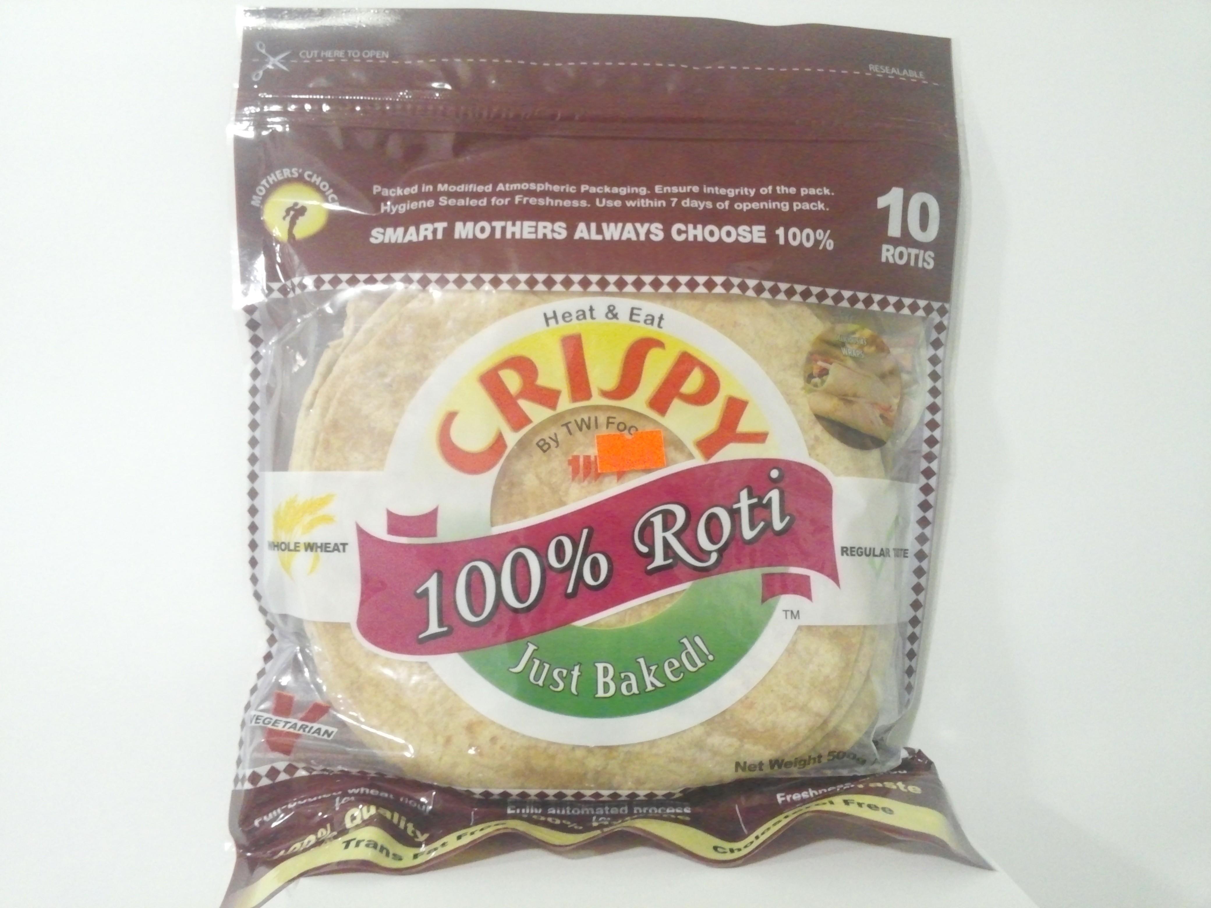 Crispy Whole Wheat Roti 15 Pcs 750 grm