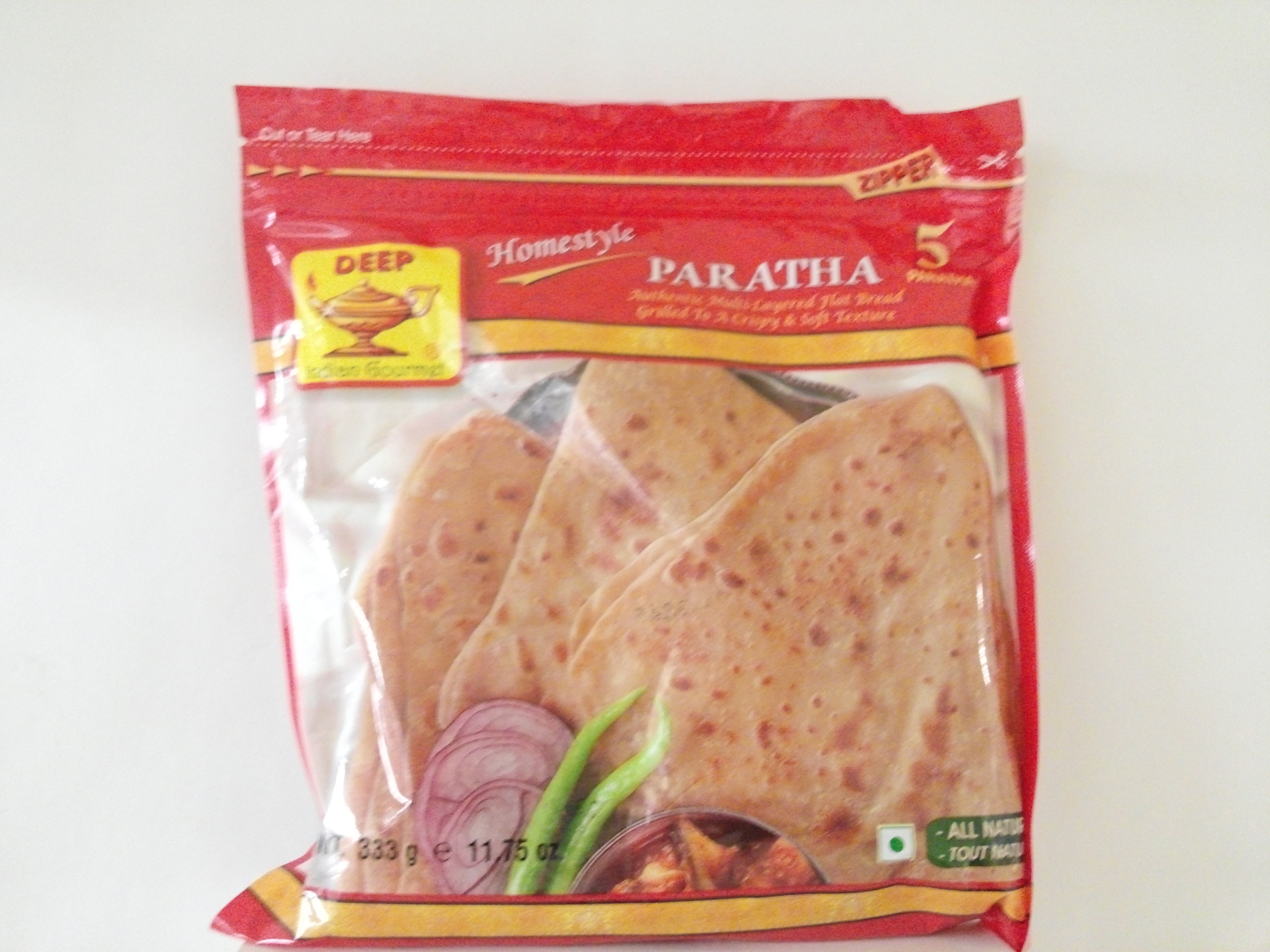Deep Homestyle Plain Paratha 5 pcs 11.75 oz