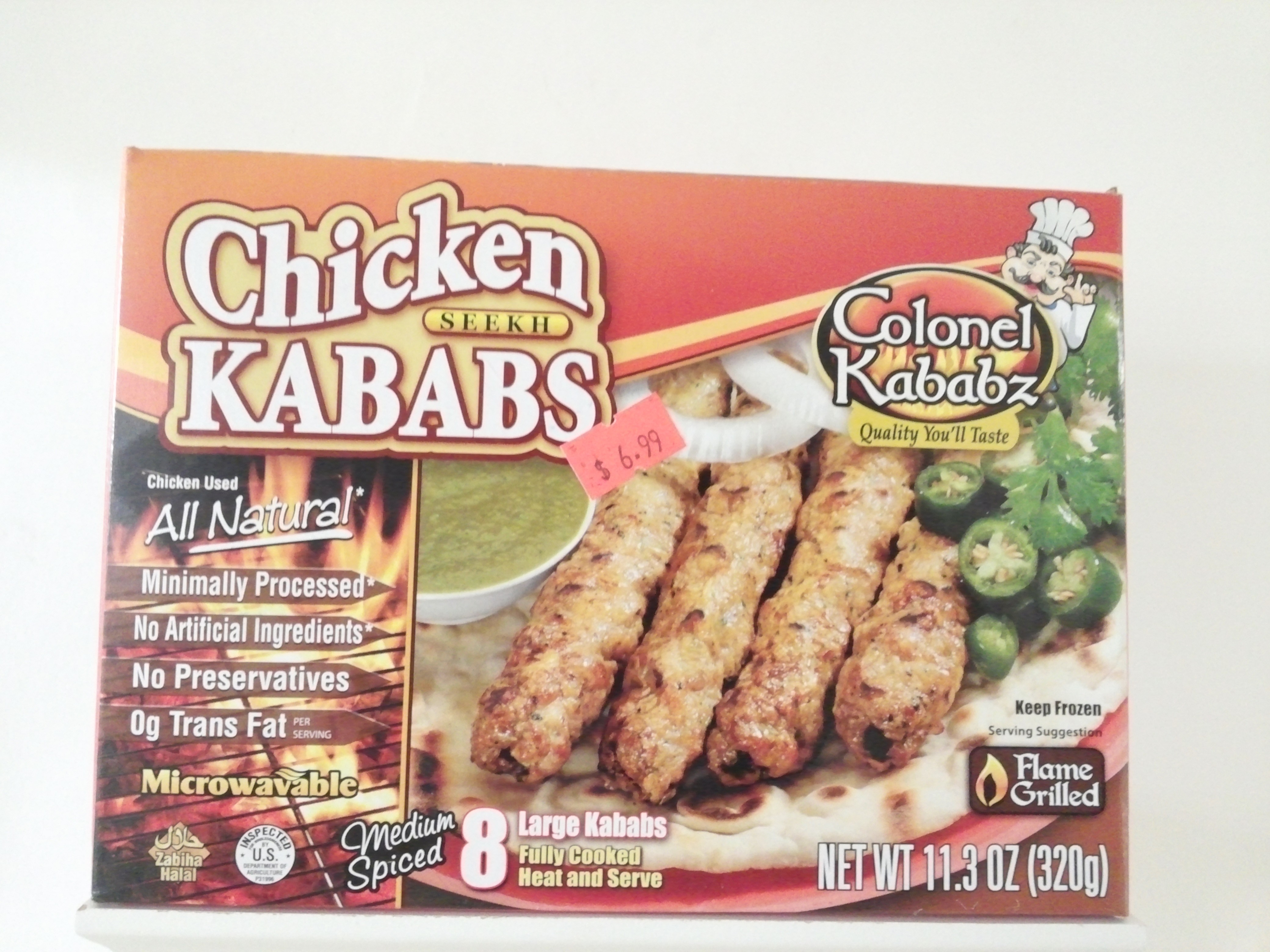 Colonel Chicken Seekh Kabab 8 pcs 320 grm