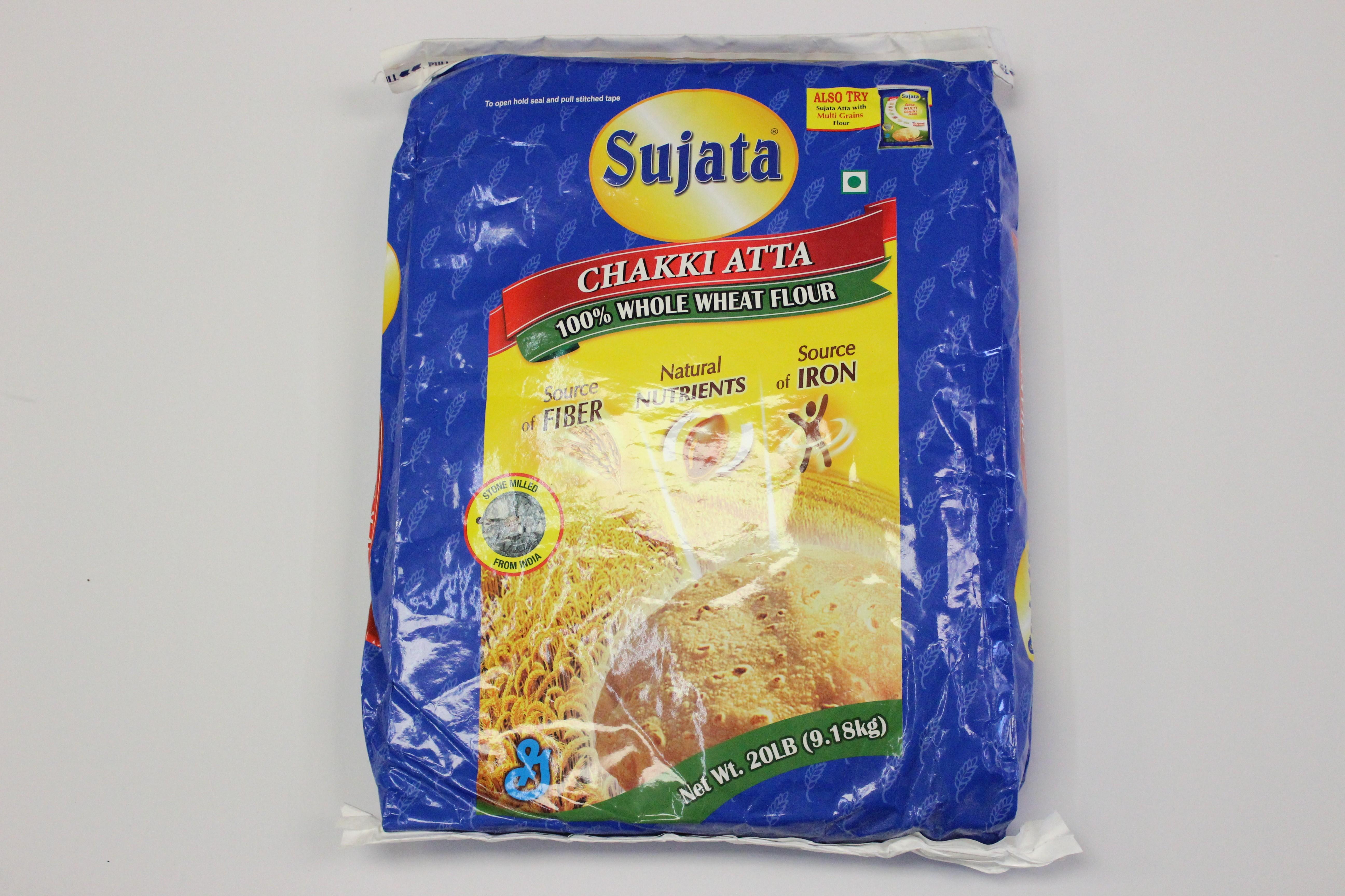 Sujata Whole Wheat Chakki Atta 20 lbs