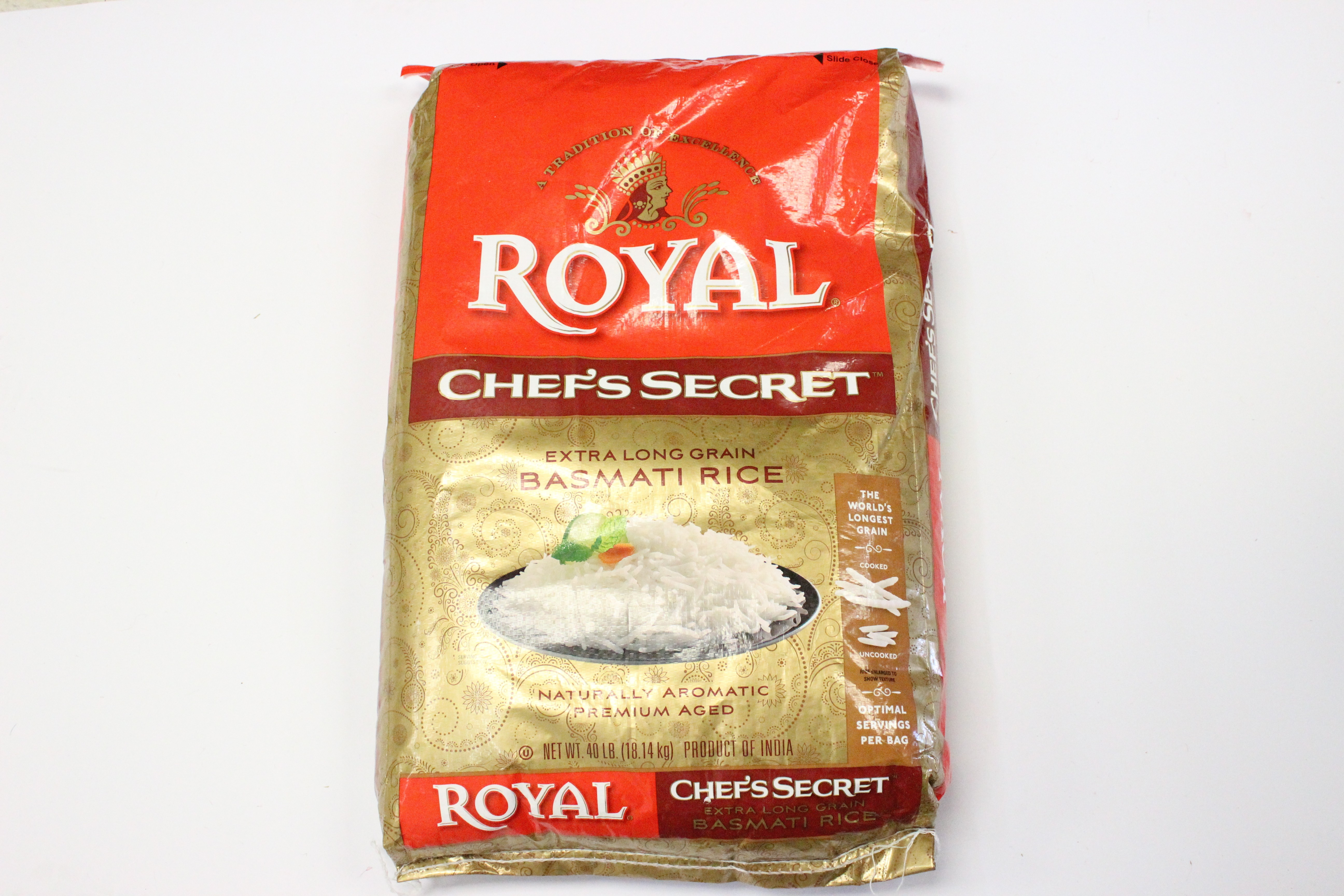 Royal Chef's Secret Basmati Rice 40lb