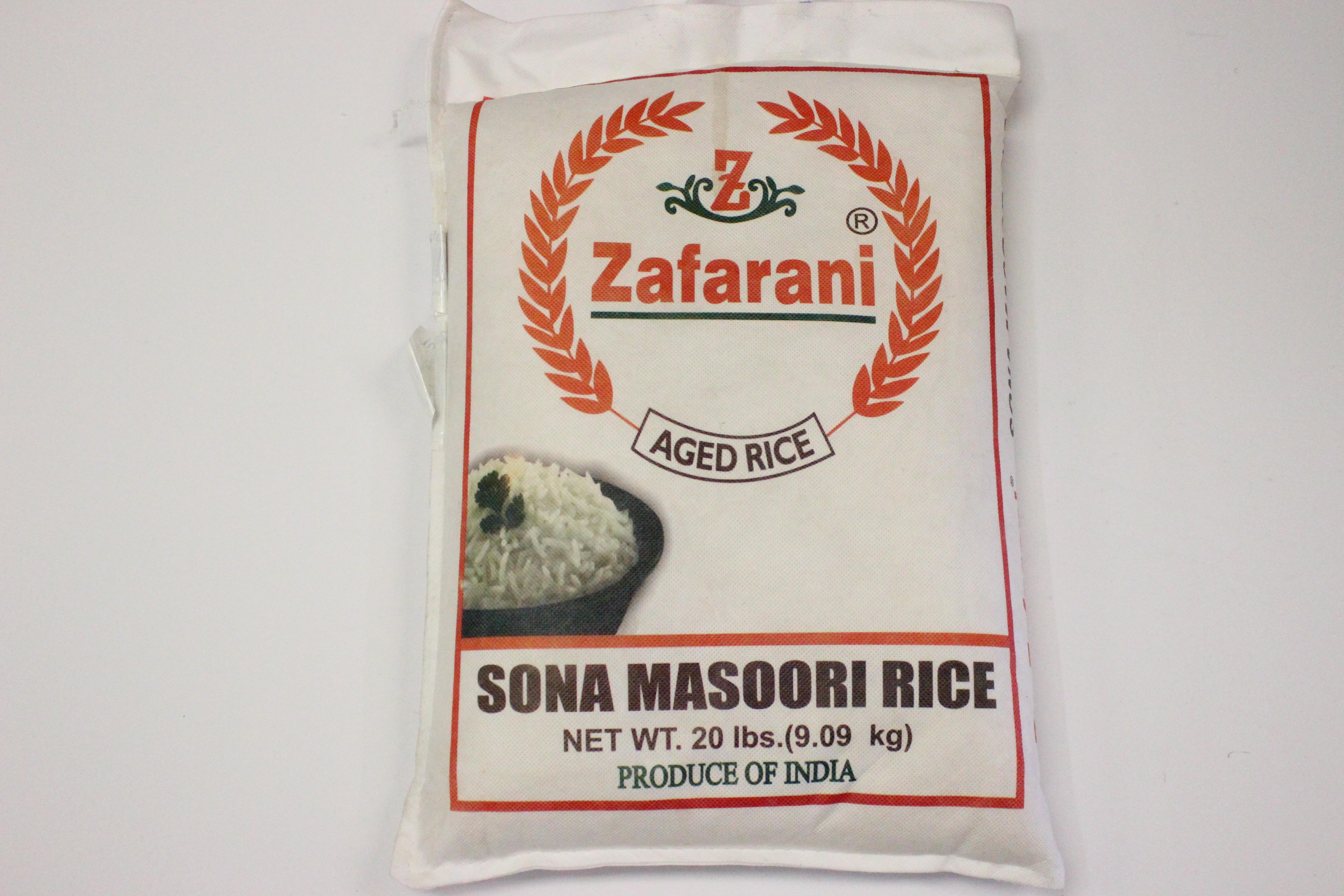 Zafarani Sona Mansoori Rice 20lb
