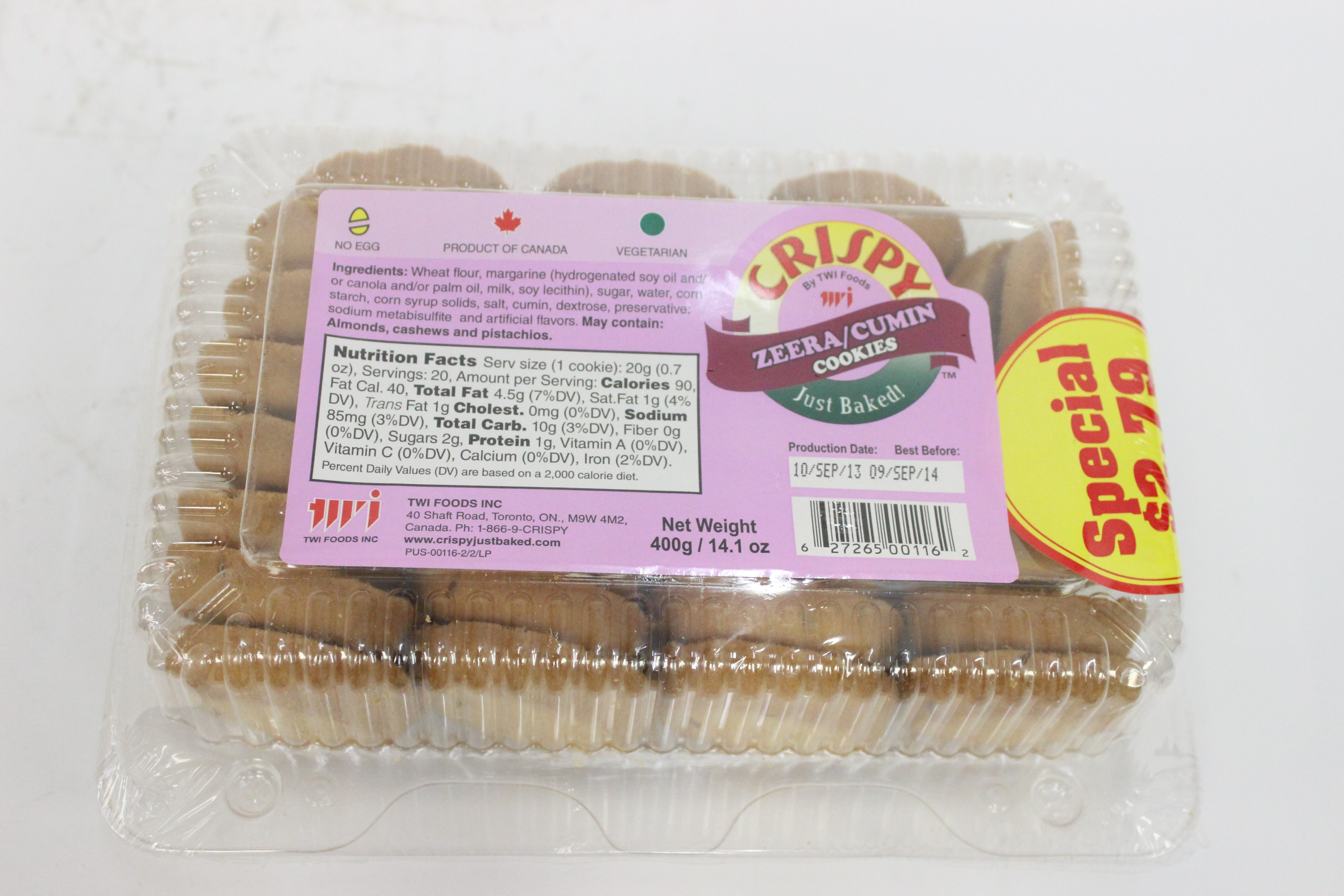Crispy Zeera/Cumin Cookies 12 oz