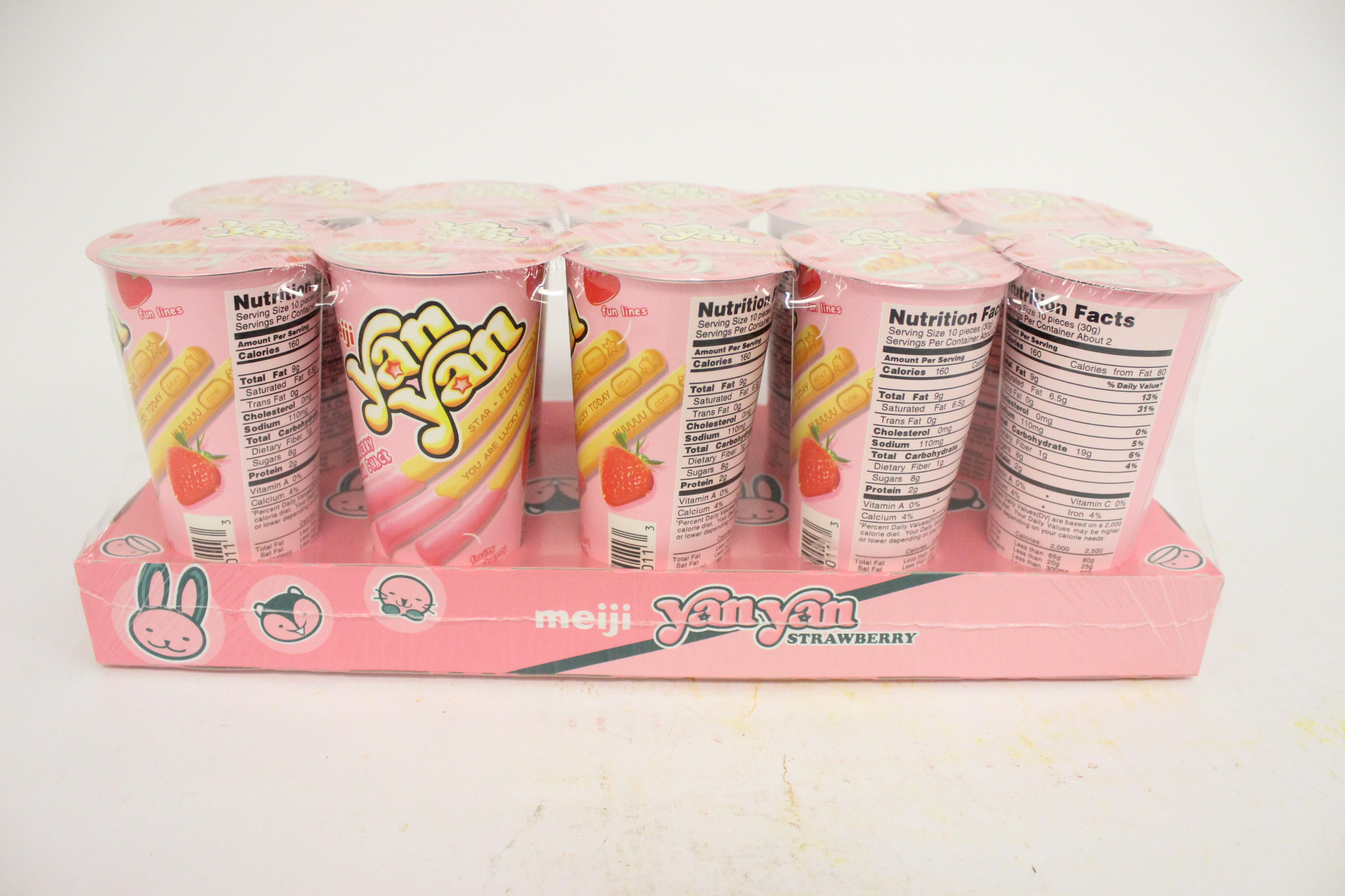Yan Yan Strawberry Cream Dip 2 oz 10 Pack