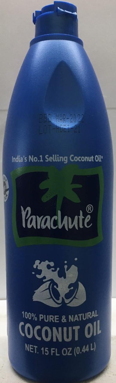 Parachute 100% pure & Natural Coconut Oil 15 oz