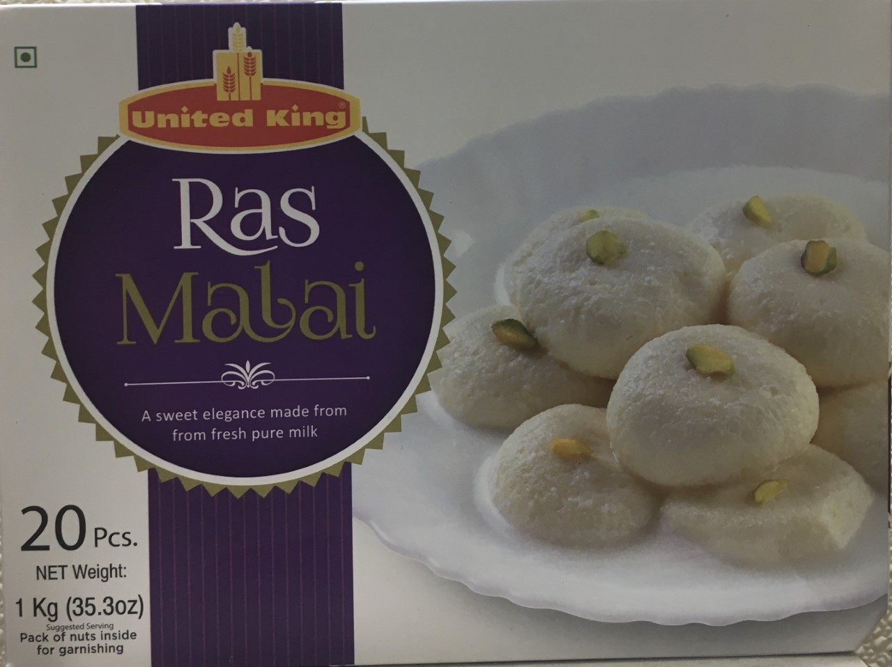 United King Ras Malai-20 pcs-35.3 oz 1 kg