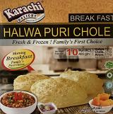 Karachi Delight Halwa Puri Chole - 10 pcs puri, 150 grm Halwa, 175 grm Chole, 175 grm Aloo