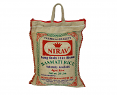 Nirav Long Grain 1121 Steam Basmati Rice 20 lbs
